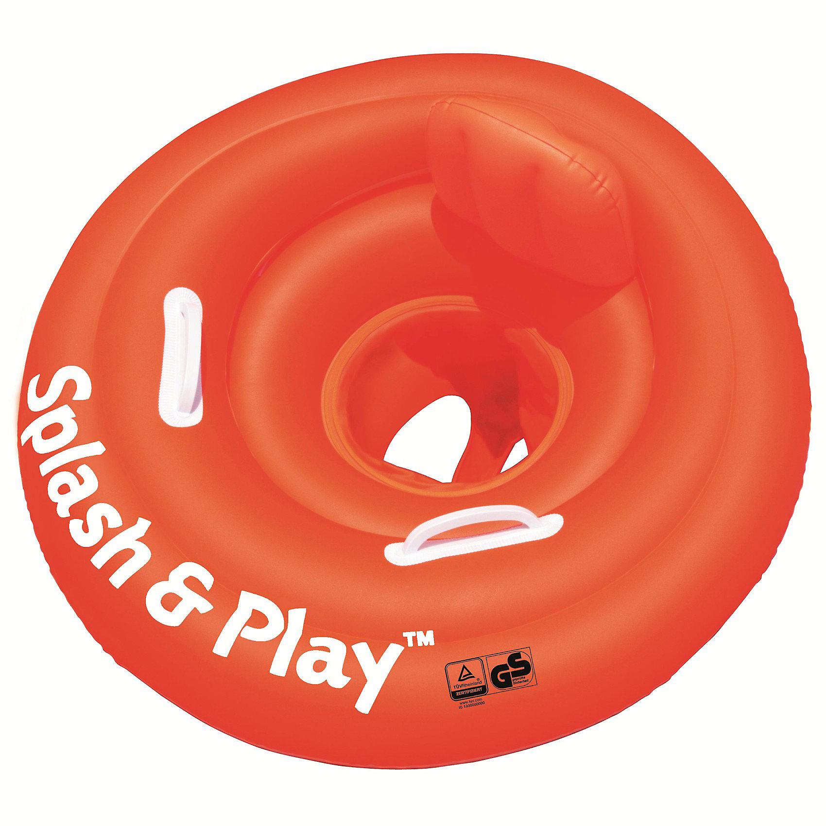 Круг для плавания с сиденьем, спинкой и ручками Splash&amp;Play, 69 см, BestwayКруги и нарукавники<br>Характеристики товара:<br><br>• материал: винил<br>• цвет: оранжевый<br>• размер: 69 см<br>• легкий материал<br>• отверстия для ног<br>• удобное сиденье со спинкой и ручками <br>• трехкамерная конструкция обеспечивает надежность<br>• надувной <br>• яркий цвет<br>• комфортный<br>• хорошо заметен на воде<br>• возраст: от 0 мес<br>• страна бренда: США, Китай<br>• страна производства: Китай<br><br>Это отличный способ научить малышей не бояться воды и обеспечить детям веселое времяпровождение! Круг поможет ребенку больше времени проводить на воде.<br><br>Предмет сделан из прочного материала, но очень легкого - отлично держится на воде. Круг легкий, его удобно брать с собой. Изделие произведено из качественных и безопасных для детей материалов.<br><br>Круг для плавания с сиденьем и спинкой и ручками Splash&amp;Play, 69 см, от бренда Bestway (Бествей) можно купить в нашем интернет-магазине.<br><br>Ширина мм: 195<br>Глубина мм: 200<br>Высота мм: 50<br>Вес г: 540<br>Возраст от месяцев: 0<br>Возраст до месяцев: 12<br>Пол: Унисекс<br>Возраст: Детский<br>SKU: 3340141