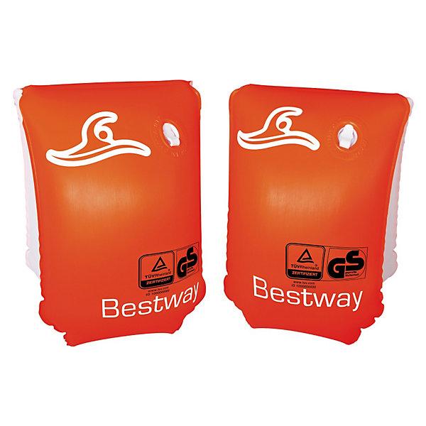 Нарукавники для плавания Safe-2-Swim, BestwayКруги и нарукавники<br>Характеристики товара:<br><br>• материал: полимер<br>• цвет: красный<br>• размер: 25х15 см<br>• легкий материал<br>• для начинающих плавать<br>• надувные<br>• яркие цвета<br>• хорошо заметны на воде<br>• возраст: от 3 до 6 лет<br>• страна бренда: США, Китай<br>• страна производства: Китай<br><br>Это отличный способ научить малышей плавать и обеспечить детям веселое времяпровождение! Нарукавники помогут ребенку больше двигаться и поддерживать хорошую физическую форму.<br><br>Предметы сделаны из прочного материала, но очень легкого - они отлично держатся на воде. Предметы легкие, их удобно брать с собой. Изделия произведены из качественных и безопасных для детей материалов.<br><br>Нарукавники для плавания Safe-2-Swim, от бренда Bestway (Бествей) можно купить в нашем интернет-магазине.<br>Ширина мм: 194; Глубина мм: 121; Высота мм: 32; Вес г: 136; Возраст от месяцев: 36; Возраст до месяцев: 72; Пол: Унисекс; Возраст: Детский; SKU: 3340142;