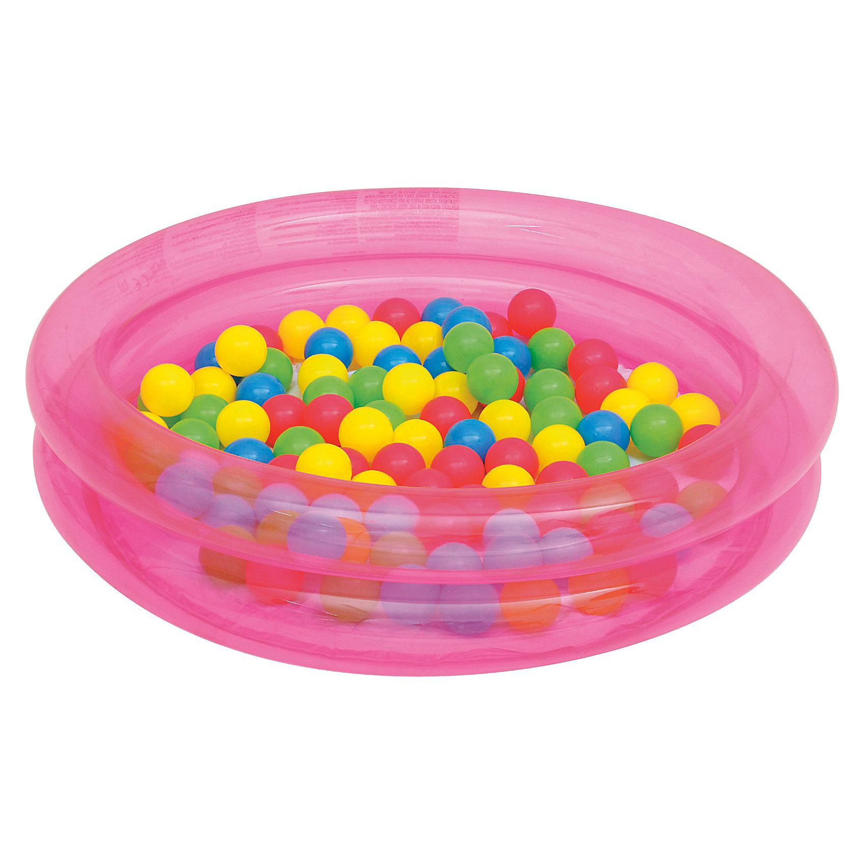 Детский надувной бассейн с 50 шариками для игры, Bestway от myToys