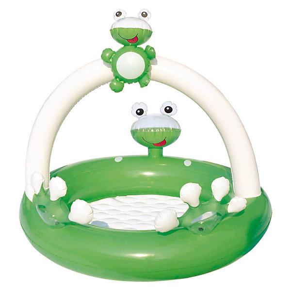 Детский надувной бассейн Лягушка, BestwayНадувные бассейны<br>Детский надувной бассейн Лягушка, Bestway (Бествей) выполнен в виде забавного зеленого лягушонка и предназначен для самых маленьких. У бассейна мягкое надувное дно. Благодаря низким бортам, бассейном могут пользоваться даже малыши. Кукла-лягушонок является съёмной и ребенок может с ней играть.<br><br>Детский бассейн Лягушка развивает ребенка с помощью распознавания предметов. Улучшает обучение с помощью элементов издающих звуки при нажатии.<br><br>Детский надувной бассейн Лягушка от Bestway  непременно понравится Вашему малышу!<br><br>Дополнительная информация:<br><br>- В комплекте: надувной бассейн Лягушка Бествей, ремонтный комплект<br>- Размер бассейна: 98 x 94 x 68 см <br>- Объем: 25 литров<br>- Мягкое надувное дно<br>- Материал: винил<br><br>Детский надувной бассейн Лягушка, Bestway (Бествей) можно купить в нашем интернет-магазине.<br>Ширина мм: 305; Глубина мм: 299; Высота мм: 60; Вес г: 936; Возраст от месяцев: 3; Возраст до месяцев: 36; Пол: Унисекс; Возраст: Детский; SKU: 3340157;