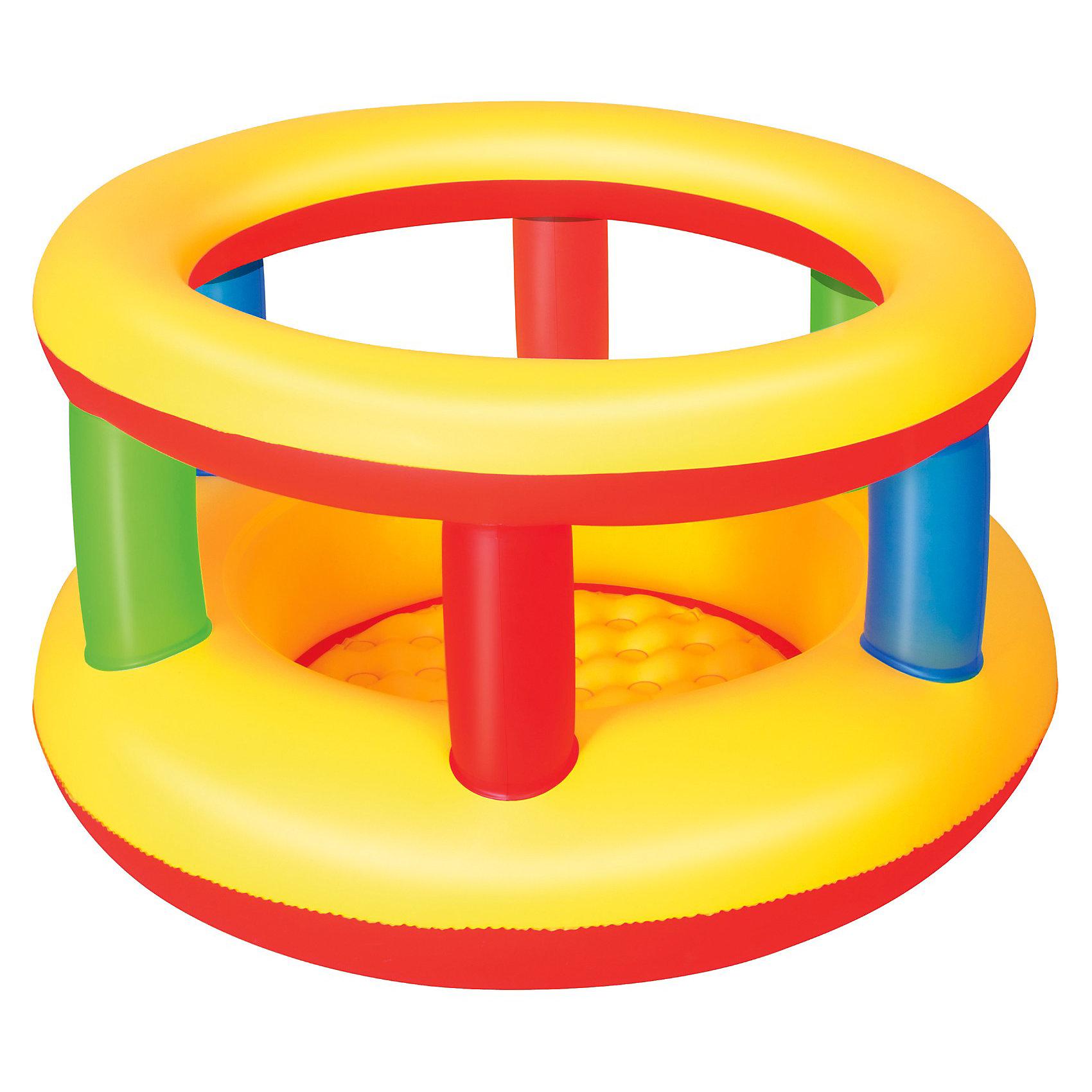 Надувной манеж, 112х63 см, BestwayНадувные центры<br>Надувной манеж, Bestway, прекрасно подойдет для игр малыша как дома так и на улице. Высокие и мягкие боковые стенки и надувной пол гарантируют полную безопасность и комфорт. Манеж выполнен в яркой, привлекательной для ребенка расцветке. Материал представляет собой<br>нетоксичный и прочный винил 0,25 мм., устойчивый к изнашиванию. Поставляется в сдутом виде, насос в комплект не входит. Для детей от 1 года (максимальный вес - 30 кг.).<br><br>Дополнительная информация:<br><br>- Материал: ПВХ.<br>- Размер манежа: 112 х 63,5 см. <br>- Размер упаковки: 30,3 х 29,7 х 6,8 см.<br>- Вес: 1,54 кг.<br><br>Надувной манеж, 112х63 см., Bestway, можно купить в нашем интернет-магазине.<br><br>Ширина мм: 303<br>Глубина мм: 297<br>Высота мм: 68<br>Вес г: 1547<br>Возраст от месяцев: -2147483648<br>Возраст до месяцев: 2147483647<br>Пол: Унисекс<br>Возраст: Детский<br>SKU: 3340161