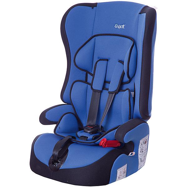 Автокресло Siger Прайм, 9-36 кг, синийГруппа 1-2-3  (от 9 до 36 кг)<br>Детское автомобильное кресло SIGER  Прайм.  <br>Подходит для детей весом от 9 до 36 килограмм. Возрастная категория от 1 года до 12 лет. <br>Описание:<br>- трансформируется в модели «-Спорт» и «-Бустер»;<br>- чехол – трикотажное полотно, плотность 250 г/м2;<br>- специальная G-скоба, облегчающая установку кресла;<br>- ортопедическая спинка и особая форма подголовника защищает голову и плечи малыша от боковых ударов;<br>- двухпозиционная регулировка внутреннего ремня (лето-зима);<br>- износостойкий чехол, легко стирается, не вызывает аллергических реакций, не  выгорает;<br>- ортопедическая округлая форма сиденья предохраняет ножки малыша от затекания.<br>Дополнительная информация:<br> - ширина посадочного места – 27-34 см;<br>- глубина посадочного места – 30 см;                                                                                                                    <br>- высота посадочного места – 12 см.<br>- высота спинки – 58 см;<br>- нижнее положение ремней безопасности – 30см;<br>- среднее положение ремней безопасности – 35см;<br>- верхнее положение ремней безопасности – 40см;<br>- вес – 4,8 кг.<br>- корпус – ПНД-пластмасса ПЭ2МТ76-17.<br>- цвет - синий.<br>Детское автомобильное кресло SIGER Прайм  можно купить в нашем интернет-магазине.<br><br>Ширина мм: 420<br>Глубина мм: 420<br>Высота мм: 870<br>Вес г: 4800<br>Возраст от месяцев: 12<br>Возраст до месяцев: 144<br>Пол: Унисекс<br>Возраст: Детский<br>SKU: 3340352