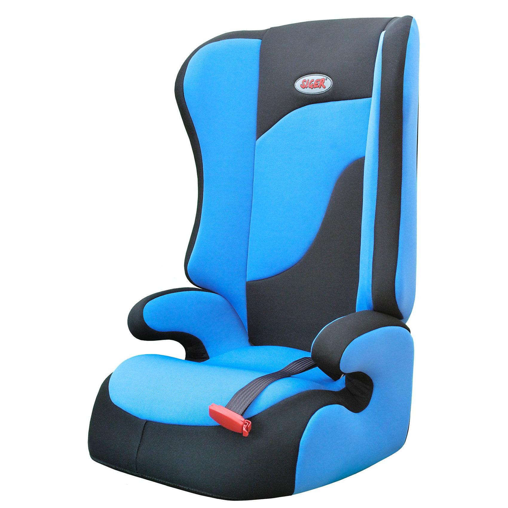 Автокресло Спорт, 15-36 кг., SIGER, синийДетское автомобильное кресло SIGER Спорт.<br>Подходит для детей весом от 15 до 36 килограмм. Возрастная категория от 3 до 12 лет.<br>Описание: <br>- трансформируется в  модели «-Прайм» и «-Бустер»; <br>- чехол – трикотажное полотно, плотность 250 г/м2;<br>- ортопедическая спинка и особая форма подголовника защитят голову и плечи малыша от боковых ударов;<br>- износостойкий чехол легко снимается для стирки (ручной и автоматической), не садится, не выгорает и не вызывает аллергических реакций;<br>- ребенок пристегивается  штатным ремнем безопасности автомобиля;<br>- округлая форма сиденья не «режет» ножки, предохраняя их от затекания  в дальней дороге.<br>Дополнительная информация:<br>- ширина посадочного места – 27-34 см;<br>- глубина посадочного места – 30 см;<br>- высота посадочного места – 12 см;<br>- высота спинки – 58 см;<br>- вес – 3,8 кг.<br> - корпус – ПНД-пластмасса ПЭ2МТ76-17;<br>- цвет –синий.<br>Детское автомобильное кресло SIGER Спорт можно купить в нашем интернет-магазине.<br><br>Ширина мм: 440<br>Глубина мм: 420<br>Высота мм: 800<br>Вес г: 3800<br>Возраст от месяцев: 36<br>Возраст до месяцев: 144<br>Пол: Унисекс<br>Возраст: Детский<br>SKU: 3340356