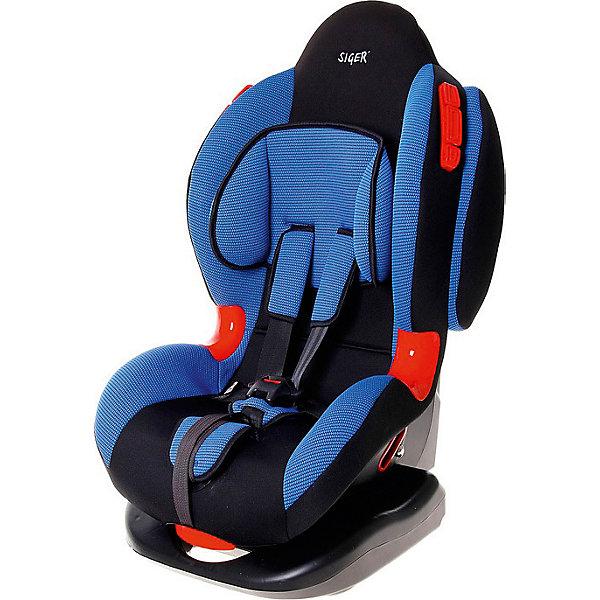 Автокресло Siger Кокон, 9-25 кг, синийГруппа 1-2  (от 9 до 25 кг)<br>Детское автомобильное кресло SIGER Кокон. <br>Подходит для детей весом от 9 до 25 килограмм. Возрастная категория от 1 года до 7 лет. <br>Описание:<br>-выраженная тыльная и боковая защита ребенка в случае ДТП;<br>- мягкий подголовник, накладки внутренних ремней и механизма регулировки;<br>- регулировка наклона в 6 положениях (только для группы 1);<br>- изностостойкие вставки для штатных ремней;<br>- замок внутренних ремней повышенной надежности;<br>- 2 позиции прохождения штатного ремня.<br>Дополнительные характеристики:<br>- ширина - 46,5 см;<br>- высота - 78 см;<br>- глубина посадочного места  - 28 см;<br>- вес - 6,8 кг;<br>- цвет - синий.<br>Детское автомобильное кресло SIGER Кокон можно купить в нашем интернет-магазине.<br>Ширина мм: 460; Глубина мм: 500; Высота мм: 960; Вес г: 7000; Возраст от месяцев: 12; Возраст до месяцев: 84; Пол: Унисекс; Возраст: Детский; SKU: 3340370;