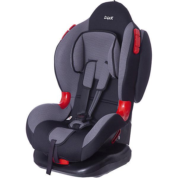 Автокресло Siger Кокон-Isofix, 9-25 кг, серыйГруппа 1-2  (от 9 до 25 кг)<br>Детское автомобильное кресло SIGER Кокон-Isofix. <br>Подходит для детей весом от  9 до 25 килограмма. Возрастная категория от 1 года до 7 лет.<br>Описание:<br>- внутренние ремни - 5-ти точечные, с мягкими накладками;<br>- 2 позиции прохождения штатного ремня;<br>- регулировка наклона в 6 положениях;<br>- установка лицом по ходу движения автомобиля;<br>- износостойкие вставки для внутренних ремней;<br>- замок внутренних ремней с повышенной надежностью;<br>- выраженная тыльная и боковая защита ребенка;<br>- мягкий подголовник накладки внутренних ремней и механизм их регулировки;<br>- ударопрочные боковые демпферы в комплектации «Изофикс плюс якорный ремень»;<br>- регулировка наклона в 6 положениях.<br>Дополнительная информация:<br>- ширина - 46,5 см;<br>- высота - 78 см;<br>- глубина посадочного места - 28 см;<br>- вес - 7,7 кг;<br>- цвет – серый.<br>Детское автомобильное кресло SIGER Кокон-Isofix можно купить в нашем интернет-магазине.<br><br>Ширина мм: 460<br>Глубина мм: 500<br>Высота мм: 960<br>Вес г: 8400<br>Возраст от месяцев: 12<br>Возраст до месяцев: 84<br>Пол: Унисекс<br>Возраст: Детский<br>SKU: 3340371