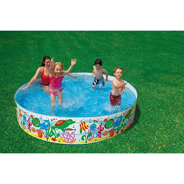 Детский каркасный бассейн Аквариум, IntexБассейны<br>Характеристики тоавара:<br><br>• диаметр: 244 см.<br>• высота: 46 см<br>• вместимость(80%):  1706 литров <br>• вес: 4,1 кг<br>• тип: жесткий<br>• дно: ПВХ пленка <br><br>Детский  бассейн Аквариум, Intex (Интекс) сочетает в себе такие качества, как просторность и надежность. <br><br>Нет необходимости в его надувании – достаточно разложить его и наполнить водой. <br><br>Ненадувные стенки из плотного материала, исключают случайное прокалывание. <br><br>Веселые экзотические рыбки морского рифа, нарисованные на бортах бассейна обязательно понравятся понравится Вашим малышам, и они еще с большим удовольствием играть и плескаться!<br><br>Детский  бассейн Аквариум, Intex (Интекс) можно купить в нашем интернет-магазине.<br>Ширина мм: 494; Глубина мм: 177; Высота мм: 177; Вес г: 3995; Возраст от месяцев: 36; Возраст до месяцев: 1164; Пол: Унисекс; Возраст: Детский; SKU: 3340375;