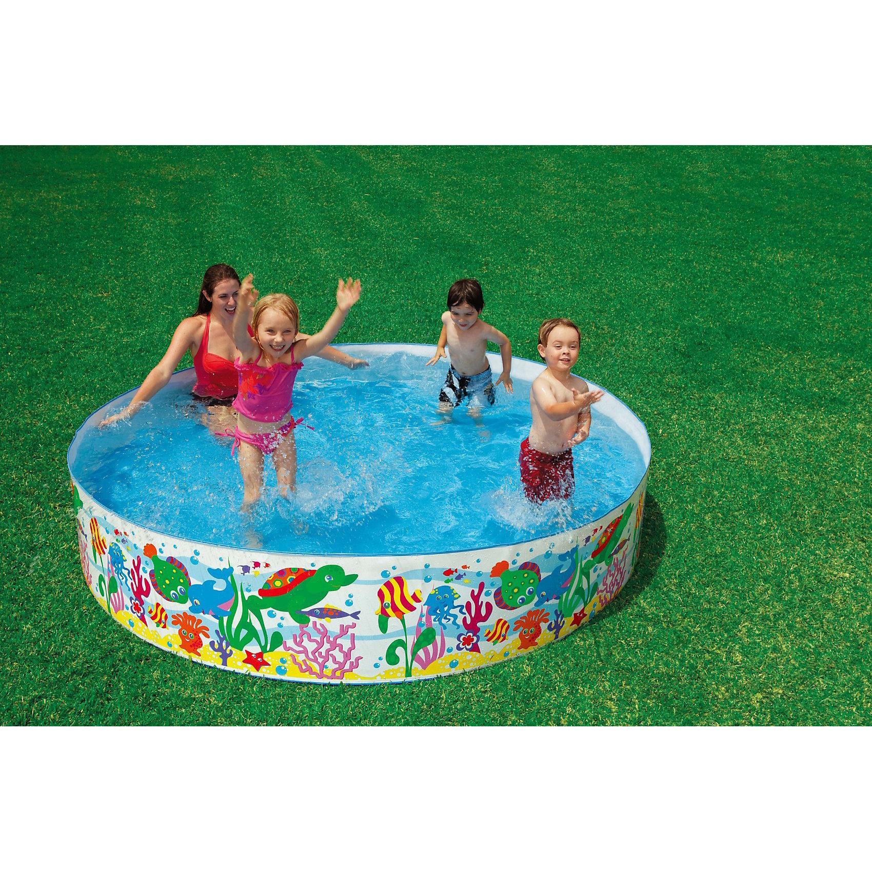 Детский каркасный бассейн Аквариум, IntexБассейны<br>Характеристики тоавара:<br><br>• диаметр: 244 см.<br>• высота: 46 см<br>• вместимость(80%):  1706 литров <br>• вес: 4,1 кг<br>• тип: жесткий<br>• дно: ПВХ пленка <br><br>Детский  бассейн Аквариум, Intex (Интекс) сочетает в себе такие качества, как просторность и надежность. <br><br>Нет необходимости в его надувании – достаточно разложить его и наполнить водой. <br><br>Ненадувные стенки из плотного материала, исключают случайное прокалывание. <br><br>Веселые экзотические рыбки морского рифа, нарисованные на бортах бассейна обязательно понравятся понравится Вашим малышам, и они еще с большим удовольствием играть и плескаться!<br><br>Детский  бассейн Аквариум, Intex (Интекс) можно купить в нашем интернет-магазине.<br><br>Ширина мм: 494<br>Глубина мм: 177<br>Высота мм: 177<br>Вес г: 3995<br>Возраст от месяцев: 36<br>Возраст до месяцев: 1164<br>Пол: Унисекс<br>Возраст: Детский<br>SKU: 3340375