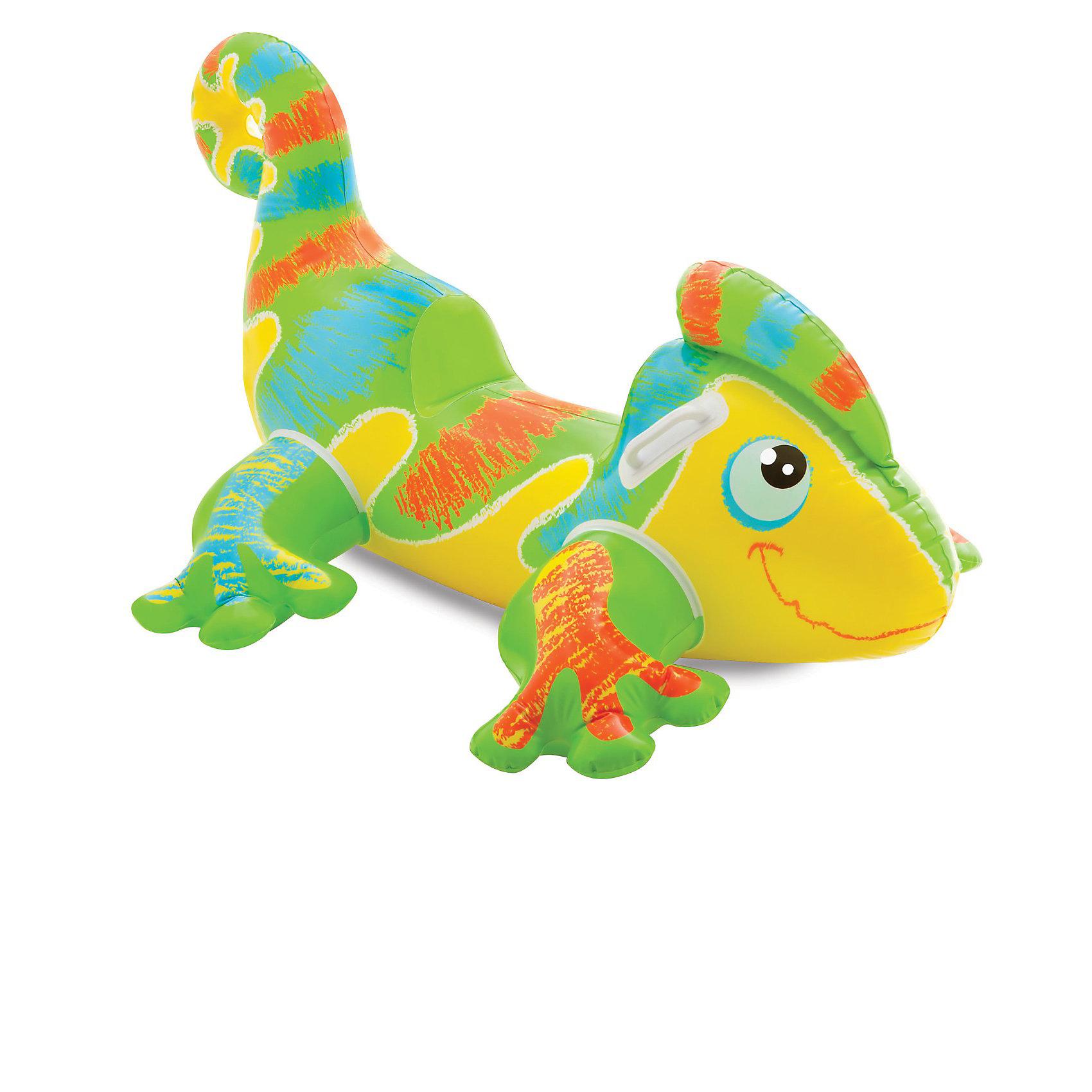 Детская надувная игрушка для игр на воде Ящерица, IntexМатрасы и лодки<br>Детская надувная игрушка для игр на воде Ящерица, Intex (Интекс) - надувная игрушка будет лучшим другом малыша на протяжении всего отдыха.<br>Красочная надувная игрушка в виде добродушной и улыбчивой ящерицы Геккон от Intex (Интекс) подарит Вашим детям ощущения счастья, беззаботности и радости. Она отлично подойдет для игр на воде и суши, и доставит ребенку множество положительных эмоций. Игрушка изготовлена из прочного поливинилхлорида, толщина которого 0,25 мм. Не скользит, швы у материала почти незаметны, они не будут натирать кожу. Она очень хорошо держится на поверхности воды. Удобная конструкция сиденья и пластиковые ручки-держатели, расположенные по бокам игрушки, помогут ребенку чувствовать себя более уверенным во время заплыва. В случае повреждения, в комплекте имеется ремнабор. Он быстро устранит дефект, и ребенок может продолжить свою игру.<br><br>Дополнительная информация:<br><br>- В комплекте: надувная игрушка с двумя пластиковыми ручками, ремнабор<br>- Размер: 138 х 91 см.<br>- Материал: ПВХ 0,25 мм.<br>- Система безопасности ребенка: двойной клапан, прочный протестированный ПВХ<br>- Размер упаковки: 23х20х7 см.<br>- Вес: 0,9 кг.<br><br>Детскую надувную игрушку для игр на воде Ящерица, Intex (Интекс) можно купить в нашем интернет-магазине.<br><br>Ширина мм: 232<br>Глубина мм: 205<br>Высота мм: 81<br>Вес г: 821<br>Возраст от месяцев: 36<br>Возраст до месяцев: 1164<br>Пол: Унисекс<br>Возраст: Детский<br>SKU: 3340378