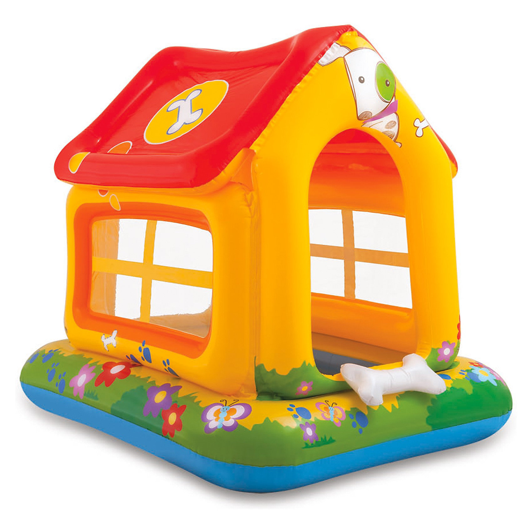 Детский надувной бассейн Домик, Intex