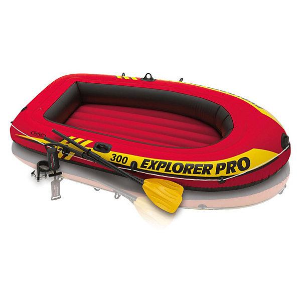 Надувная лодка Explorer Pro 300, трехместная , IntexМатрасы и лодки<br>Характеристики товара:<br><br>• возраст: от 6 лет и взрослых<br>• в комплекте: лодка, легкие пластиковые трехсекционные весла, ручной насос<br>• размер: 244х117х36 см.<br>• количество мест: двое взрослых и ребенок<br>• грузоподъемность: 200 кг.<br>• материал: ПВХ винил толщина 0,40 мм.<br>• вес: 7,9 кг.<br><br>Надувная лодка , Intex (Интекс) – это идеальный вариант для рыбалки и прогулок по небольшим речкам, прудам и озерам.<br><br>Трехместная надувная лодка от Intex (Интекс) производится по запатентованной технологии SUPER-TOUGH. Технология SUPER TOUGH - это высокомолекулярный поливинилхлорид (ПВХ) с высоким коэффициентом защиты от масла, бензина, соленой воды, механических повреждений, абразивов, солнечных лучей, ударов. <br><br>На носовой части лодки имеется ручка, по периметру закреплен трос, удобный при швартовке и буксировании. Предусмотрены держатели, позволяющие прикреплять весла вдоль внешней части корпуса, когда они не используются. <br><br>Надежная конструкция, состоит из 3 независимых воздушных камер: две камеры, формирующие корпус лодки, третья - надувной пол. Камеры оснащены двойными клапанами, позволяющими быстро надувать лодку и спускать воздух. <br><br>Надувную лодку , Intex (Интекс) можно купить в нашем интернет-магазине.<br>Ширина мм: 509; Глубина мм: 464; Высота мм: 335; Вес г: 15872; Возраст от месяцев: 72; Возраст до месяцев: 1164; Пол: Унисекс; Возраст: Детский; SKU: 3340404;
