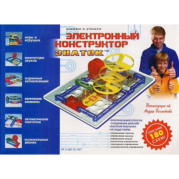 Электронный конструктор: 180 схем, ЗнатокОкружающий мир<br>Уже хорошо зарекомендовал себя за тот небольшой промежуток времени, который прошел с момента его появления. Данный конструктор может использоваться как дидактический материал, на школьных уроках физики, помогая в освоении школьной программы вплоть до 11 класса. Конструктор может использоваться в качестве познавательной игрушки любознательным человеком в возрасте от 5 лет до 55 лет. В домашних условиях мы рекомендуем использовать конструктор как «игрушку для Папы и Ребенка», когда ребенку в процессе сборки конструктора взрослый объясняет, почему загорается лампа или как работает радио (если конечно сам знает). На сегодняшний день конструктор ЗНАТОК существует в четырех вариантах, которые отличаются деталями и их количеством, а следовательно, возможностью собирать более интересные схемы и устройства. Условно конструкторы называются «180 схем», «320 схем», «999 схем» и Знаток Для образовательных учреждений - раделение идет по количеству схем вошедших в брошюру-инструкцию сопровождающую каждый конструктор.<br><br>Ширина мм: 410<br>Глубина мм: 280<br>Высота мм: 40<br>Вес г: 800<br>Возраст от месяцев: 60<br>Возраст до месяцев: 144<br>Пол: Унисекс<br>Возраст: Детский<br>SKU: 3341224
