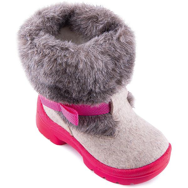 Валенки Алена для девочки ФилипокВаленки<br>Характеристики товара:<br><br>• цвет: розовый<br>• температурный режим: от -5° С до -30° С<br>• внешний материал: эко-войлок (натуральная шерсть)<br>• подкладка: натуральная овечья шерсть<br>• стелька: шерстяной войлок (3,5 мм)<br>• подошва: литая, полиуретан<br>• декорированы искусственным мехом<br>• подошва с анти скользящей с системой протектора anti slip<br>• усиленная пятка<br>• толстая устойчивая подошва<br>• страна бренда: РФ<br>• страна изготовитель: РФ<br><br>Очень теплые и удобные валенки для ребенка от известного бренда детской обуви Филипок созданы специально для русской зимы. Качественные материалы с пропиткой против попадания воды внутрь и модный дизайн понравятся и малышам и их родителям. Подошва и стелька обеспечат ребенку комфорт, сухость и тепло, позволяя в полной мере наслаждаться зимним отдыхом. Усиленная защита пятки и носка обеспечивает дополнительную безопасность детских ног в этих сапожках.<br>Эта красивая и удобная обувь прослужит долго благодаря отличному качеству. Производитель анти скользящее покрытие и амортизирующие свойства подошвы! Модель производится из качественных и проверенных материалов, которые безопасны для детей.<br><br>Валенки для девочки от бренда Филипок можно купить в нашем интернет-магазине.<br>Ширина мм: 257; Глубина мм: 180; Высота мм: 130; Вес г: 420; Цвет: бежевый/розовый; Возраст от месяцев: 60; Возраст до месяцев: 72; Пол: Женский; Возраст: Детский; Размер: 29,26,24,27,28,32,31,30,25; SKU: 3341801;