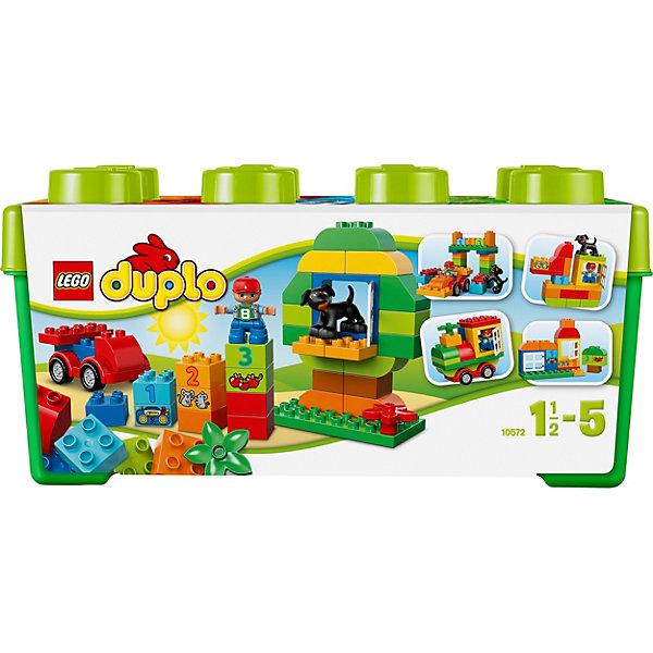 LEGO DUPLO 10572: МеханикКонструкторы Лего<br>LEGO DUPLO (ЛЕГО Дупло) 10572: Механик - увлекательный игровой набор, который станет замечательным подарком для Вашего малыша. <br><br>Из деталей Lego Duplo Механик малыш сможет собрать любую машинку, которая ему понравится. Для этого в набор включена основа с вращающимися колесиками, классические кирпичики Duplo и разнообразные аксессуары, включая фигурки мальчика механика и его верную собаку. Также в набор входят кирпичики с узорами и цифрами, которые помогут малышу обучаться во время веселой игры.<br><br>Этот набор также включает в себя 2 открывающихся окна, милую собачку, кубики с цифрами и разные декорированные кубики, помогающие вашему ребёнку начать учиться считать.<br><br>ЛЕГО Дупло - серия конструкторов для малышей, которую отличает крупные яркие детали со скругленными углами и многообразие игровых сюжетов, это и животные, и растения, и машинки, и сказочные персонажи.<br><br>Дополнительная информация:<br><br>- Количество деталей: 65.<br>- В наборе: мини-фигурка механика и его собаки, основа машинки, два окошка.<br>- Количество минифигур: 2.<br>- Серия: ЛЕГО Дупло. <br>- Материал: пластик.<br>- Размер упаковки: 17,9 x 18 x 36,9 см.<br>- Вес: 1,045 кг. <br><br>Игра с конструктором развивает мелкую моторику, фантазию и воображение ребенка, учит его усидчивости и внимательности. <br><br>Конструктор LEGO DUPLO (ЛЕГО Дупло) 10572: Механик можно купить в нашем интернет-магазине.<br><br>Ширина мм: 365<br>Глубина мм: 185<br>Высота мм: 177<br>Вес г: 1049<br>Возраст от месяцев: 18<br>Возраст до месяцев: 60<br>Пол: Унисекс<br>Возраст: Детский<br>SKU: 3342505