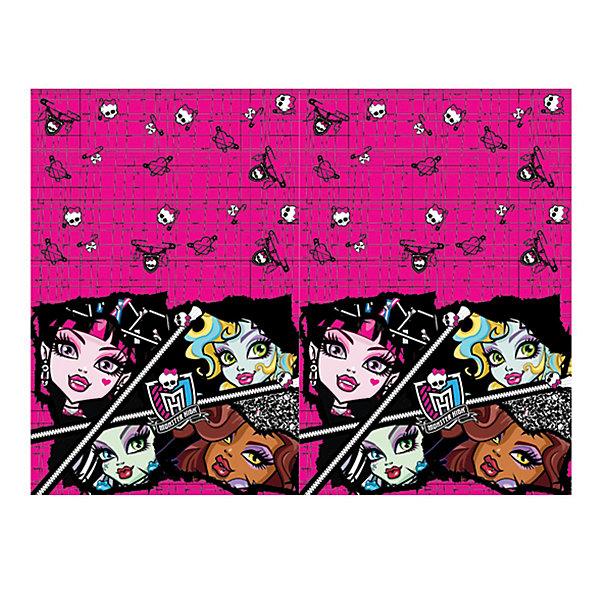 Скатерть, Monster High, 133х183 смMonster High<br>Скатерть для праздничного стола с любимыми героинями Школы монстров станет прекрасным украшением  вечеринкив стиле Монстр хай!<br>В нашем магазине можно также дополнительно приобрести одноразовые тарелки, стаканы и надувные шары из этой серии.<br><br>Дополнительная информация:<br><br>Материал: полиэтилен.<br>Размер: 133 х 183 см.<br>Ширина мм: 215; Глубина мм: 3; Высота мм: 300; Вес г: 30; Возраст от месяцев: 36; Возраст до месяцев: 168; Пол: Женский; Возраст: Детский; SKU: 3342942;