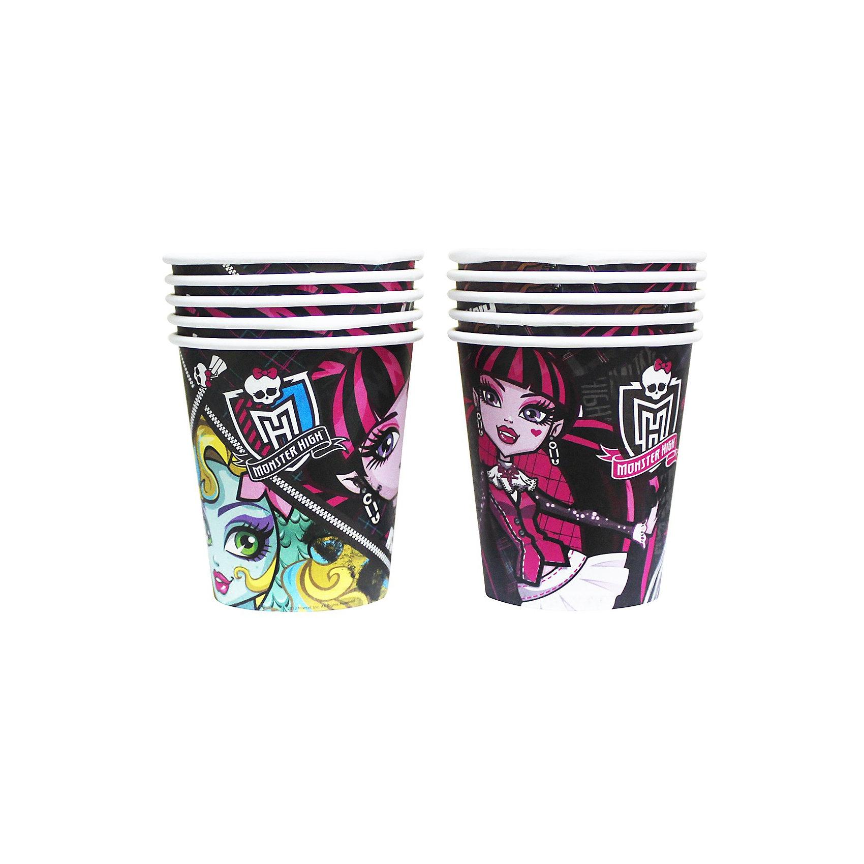 Стакан бумажный, Monster High, 10 шт., в ассорт.