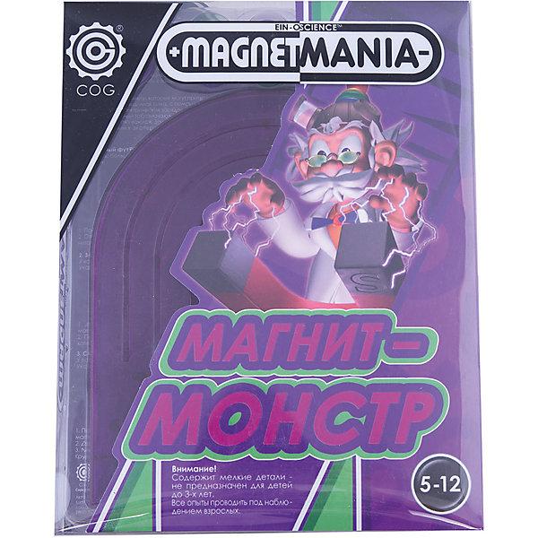 Профессор Эйн: Магнит-монстрФизика<br>С набором «Магнит-монстр» из серии «Профессор Эйн» ребёнок познакомится с действием магнитной силы. Магнит-монстр притягивает массу вещей, с ним можно провести множество экспериментов: танцующие бобы, вертящиеся кольца, магнитный хоккей, танцующая змейка, сферические шарики, а так же проявить смекалку и находчивость и проверить все предметы на взаимодействие с магнитом. <br>В наборе имеется иллюстрированная инструкция. <br><br>Дополнительная информация:<br><br>В состав набора входит: <br>- большой магнит<br>- 3 магнитные капсулы (бобы)<br>- 3 магнитные кольца<br>- 4 магнитных шарика<br>- инструкция на русском языке<br><br>Профессор Эйн: Магнит-монстр можно купить в нашем магазине.<br><br>Ширина мм: 31<br>Глубина мм: 177<br>Высота мм: 228<br>Вес г: 332<br>Возраст от месяцев: 84<br>Возраст до месяцев: 168<br>Пол: Унисекс<br>Возраст: Детский<br>SKU: 3344345