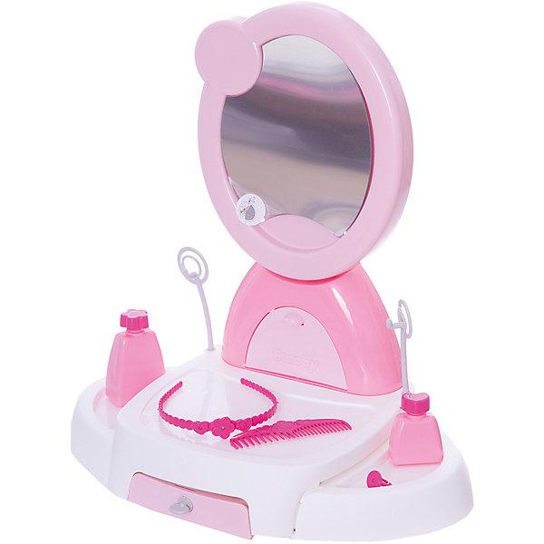 Туалетный столик, Smoby, Hello KittyПопулярные игрушки<br>Характеристики:<br><br>• оформление в стиле: Hello Kitty;<br>• аксессуары: расческа, ободок, флакончики, перстень;<br>• материал: пластик;<br>• размер столика: 46х43,5х27,5 см;<br>• размер упаковки: 46х31,5х12 см.<br><br>Туалетный столик для девочек играет важную роль в развитии женственности и вкуса. Овальное зеркало установлено на специальную подставку. Ящичек выдвигается, имеется также отсек под самым зеркалом для хранения украшения. Набор оформлен в стиле симпатичной кошечки Китти. <br><br>Туалетный столик, Smoby, Hello Kitty можно купить в нашем магазине.<br><br>Ширина мм: 460<br>Глубина мм: 280<br>Высота мм: 440<br>Вес г: 1600<br>Возраст от месяцев: 36<br>Возраст до месяцев: 72<br>Пол: Женский<br>Возраст: Детский<br>SKU: 3344670