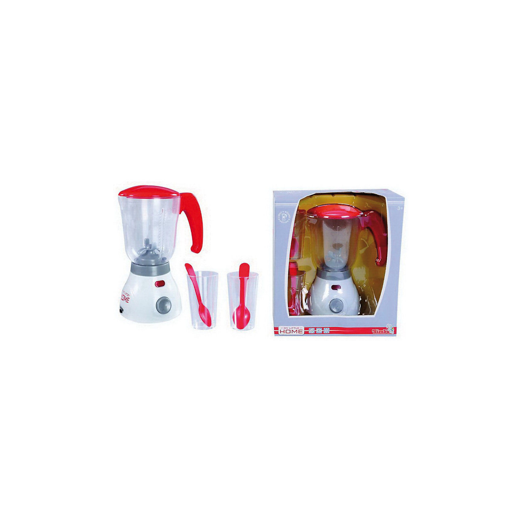 Миксер, SimbaИгрушечная бытовая техника<br>Необходимая вещь на кукольной кухне маленькой хозяйки. Теперь готовить обед для куклы станет еще увлекательнее, ведь с ним можно приготовить много новых блюд, а маленькая хозяйка освоит навыки работы с бытовой техникой. Работа миксера сопровождается звуковыми и световыми эффектами: при нажатии кнопки лопасти в миксере начинают вращаться и прибор издает звуки, имитирующие работу настоящего миксера. <br>В наборе:<br>-  миксер,<br>-  два стакана,<br>-  две ложечки.<br><br>Дополнительная информация: <br><br>- Работает на 2-х батарейках типа R6 (АА) (в комплект не входят).<br>- Изготовлен из высококачественной пластмассы.<br>- Размер: 20 см. <br>- Размер упаковки:22х12,5х24,5 см. <br>- Вес: 0,500 кг.<br><br>Миксер, Simba можно купить в нашем интернет - магазине.<br><br>Ширина мм: 220<br>Глубина мм: 120<br>Высота мм: 240<br>Вес г: 570<br>Возраст от месяцев: 36<br>Возраст до месяцев: 96<br>Пол: Женский<br>Возраст: Детский<br>SKU: 3344674
