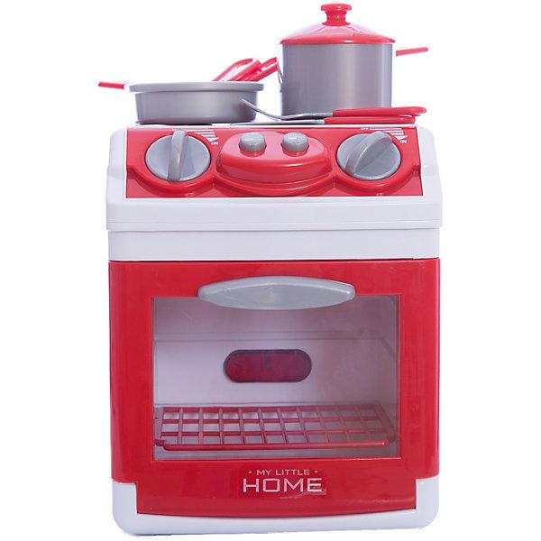 Плита кухонная + аксессуарами, SimbaИгрушечная бытовая техника<br>Маленькая кухонная плита отличается от взрослой только размером. Она обладает всеми функциями и деталями настоящей кухонной плиты, в ней есть и конфорки для приготовления обеда и духовка с открывающимся окошком и противнем. Кроме того, присутствуют световые и звуковые эффекты: при повороте ручек регулирования температуры конфорки и духовка подсвечиваются, начинают раздаваться звуки готовящихся блюд<br>В наборе также набор посуды:  вилка, ложка, ножик, лопатка, сковородка, ковшик с крышкой.<br><br>Дополнительная информация<br><br>- Кухонная плита работает от 2 батареек АА (в комплект не входят).<br>- Материал: высококачественной пластмассы.<br>- Размер игрушки: 19х16х23 см.<br>- Размер упаковки: 22,5х18х26<br>- Вес:  1,220 кг.<br><br><br>Плиту кухонную Simba можно купить в нашем интернет- магазине.<br><br>Ширина мм: 220<br>Глубина мм: 180<br>Высота мм: 260<br>Вес г: 1220<br>Возраст от месяцев: 36<br>Возраст до месяцев: 96<br>Пол: Женский<br>Возраст: Детский<br>SKU: 3344675