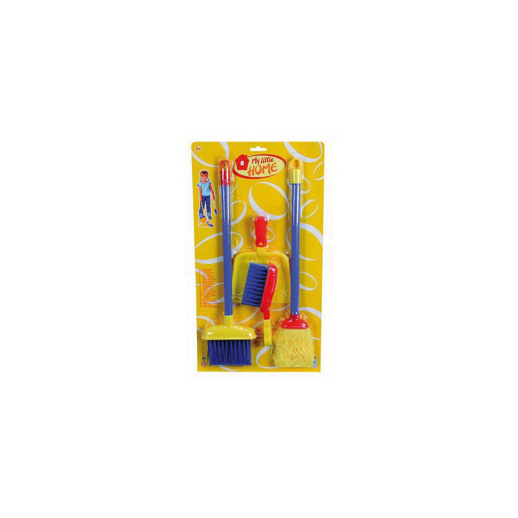 Набор для уборки в доме, SimbaУвлекательная игра для маленькой хозяйки. С помощью ярких разноцветных щеток так легко и приятно наводить порядок в комнате. Теперь  в детской всегда будут царить чистота и уют. <br><br>Дополнительная информация:<br> <br>- Состав набора: швабра, метлы (высота 51 см), совок и щетка. <br>- Материал: пластик.<br>- Размер упаковки: 30,5х4х55,5 см.<br>- Вес: 0,320 кг.<br><br>Набор прививает ребенку навыки трудовой деятельности<br>Набор для уборки в доме, Simba можно купить в нашем интернет - магазине.<br><br>Ширина мм: 300<br>Глубина мм: 40<br>Высота мм: 550<br>Вес г: 570<br>Возраст от месяцев: 36<br>Возраст до месяцев: 96<br>Пол: Женский<br>Возраст: Детский<br>SKU: 3344676