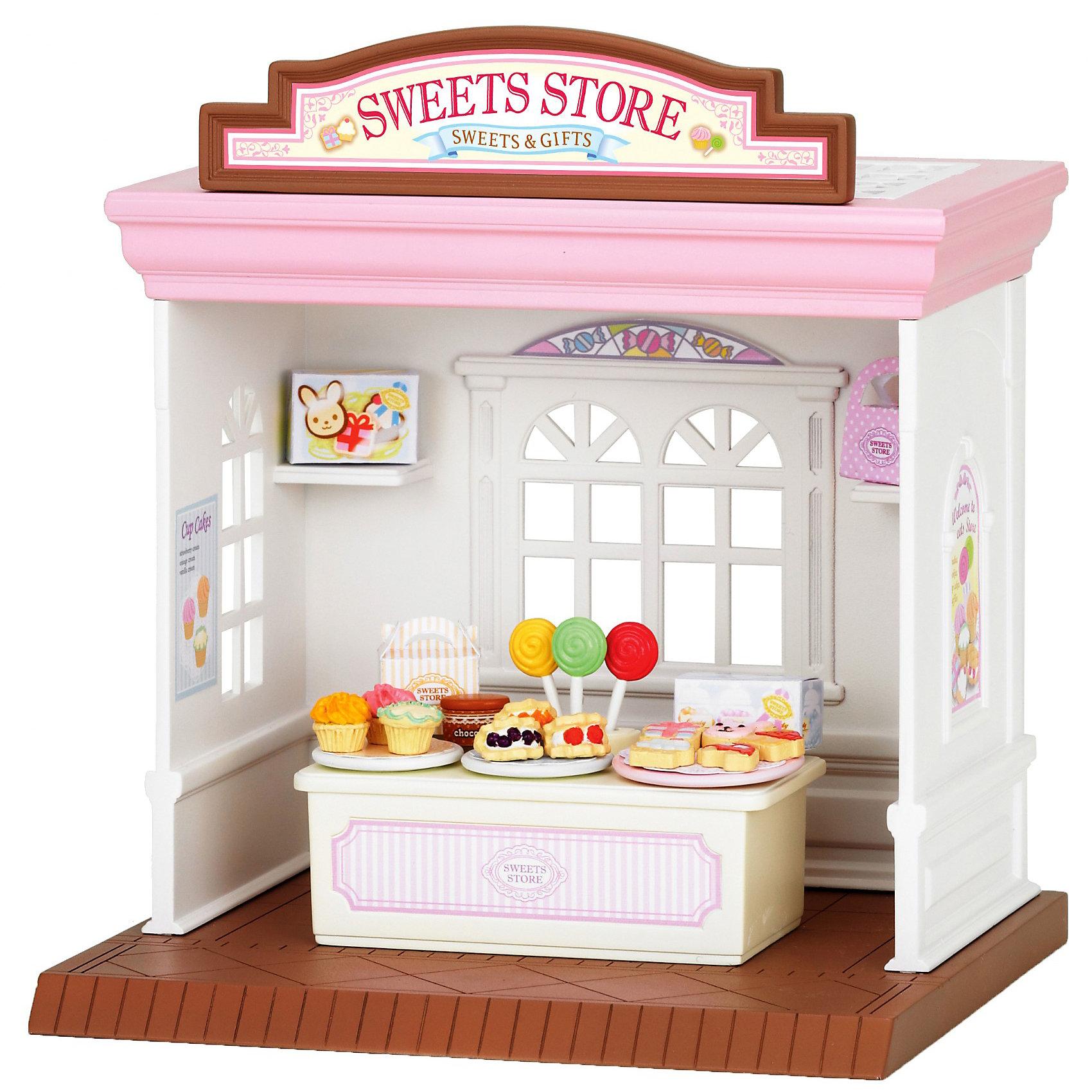 Набор Магазин конфет, Sylvanian FamiliesИгрушечные домики и замки<br>Набор Магазин конфет, Sylvanian Families - игровой набор, который наверняка порадует Вашего ребенка.<br><br>Дополнительная информация:<br><br>- В набор входит  магазин, прилавок с различными сладостями, коробочки для упаковки конфет.<br>- Фигурки героев в комплект не входят<br>- Совмещается с набором: «Магазин игрушек» и «Супермаркет»<br>- Размеры коробки: 18х16х18 см<br><br><br>Набор Магазин конфет, Sylvanian Families можно купить в нашем интернет магазине.<br><br>Ширина мм: 186<br>Глубина мм: 182<br>Высота мм: 162<br>Вес г: 474<br>Возраст от месяцев: 36<br>Возраст до месяцев: 72<br>Пол: Женский<br>Возраст: Детский<br>SKU: 3345293