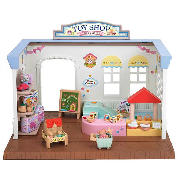 Набор Магазин игрушек, Sylvanian FamiliesSylvanian Families<br>Набор Магазин игрушек, Sylvanian Families - игровой набор, который наверняка порадует Вашего ребенка.<br><br>Дополнительная информация:<br><br>- В набор « Магазин игрушек » Sylvanian Families входит магазин, который  обустроен детским игровым уголком. Магазин одного уровня. - В комплекте полки, детская горка, тележка для игрушек, игровой столик, доска для рисования, детские игрушки, погремушки, наклейки.<br>- Материал: пластик<br>- Совмещается с набором: «Магазин конфет» и «Супермаркет».<br>- Размеры коробки: 28х17х20,5 см<br><br>Набор Магазин игрушек, Sylvanian Families можно купить в нашем интернет магазине.<br><br>Ширина мм: 177<br>Глубина мм: 283<br>Высота мм: 210<br>Вес г: 803<br>Возраст от месяцев: 36<br>Возраст до месяцев: 72<br>Пол: Женский<br>Возраст: Детский<br>SKU: 3345294