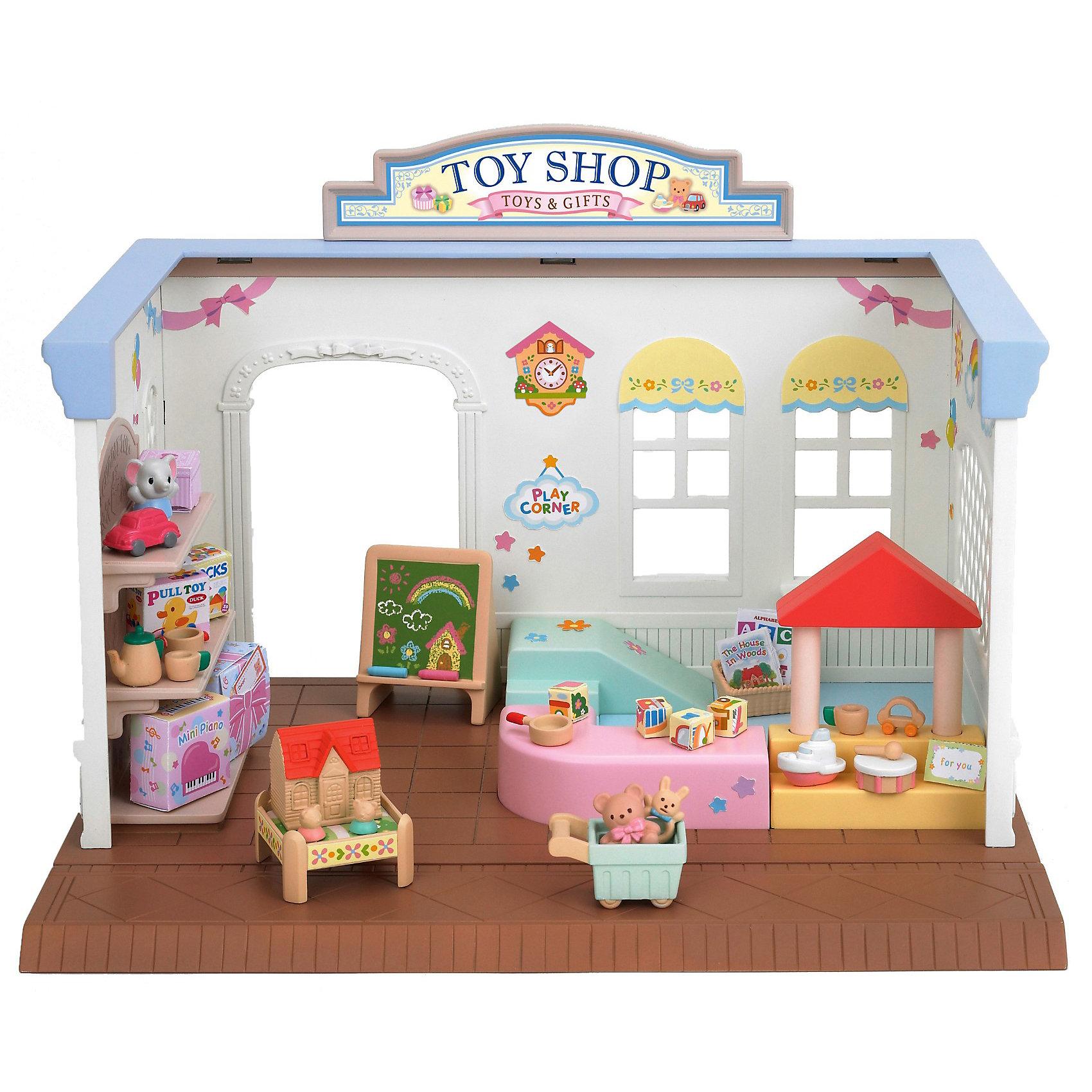 Набор Магазин игрушек, Sylvanian FamiliesИгрушечные домики и замки<br>Набор Магазин игрушек, Sylvanian Families - игровой набор, который наверняка порадует Вашего ребенка.<br><br>Дополнительная информация:<br><br>- В набор « Магазин игрушек » Sylvanian Families входит магазин, который  обустроен детским игровым уголком. Магазин одного уровня. - В комплекте полки, детская горка, тележка для игрушек, игровой столик, доска для рисования, детские игрушки, погремушки, наклейки.<br>- Материал: пластик<br>- Совмещается с набором: «Магазин конфет» и «Супермаркет».<br>- Размеры коробки: 28х17х20,5 см<br><br>Набор Магазин игрушек, Sylvanian Families можно купить в нашем интернет магазине.<br><br>Ширина мм: 284<br>Глубина мм: 213<br>Высота мм: 175<br>Вес г: 811<br>Возраст от месяцев: 36<br>Возраст до месяцев: 72<br>Пол: Женский<br>Возраст: Детский<br>SKU: 3345294