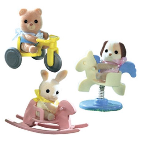 Набор #2 Младенец в пластиковом сундучке, Sylvanian FamiliesSylvanian Families<br>Набор #2 Младенец в пластиковом сундучке, Sylvanian Families - игровой набор, который наверняка порадует Вашего ребенка.<br><br>Игрушка представляет собой пластиковый сундучок, в котором находится младенец (4-5см) с различными предметами. Игрушка представлена в ассортименте и возможно получение одного из следующих видов наборов:<br>- медвежонок на велосипеде<br>- собачка на качелях-лошадке<br>- крольчонок на качалке.<br><br>Дополнительная информация:<br><br>- В набор входит: фигурка зверюшки в пластиковом сундучке + аксессуар.<br>- Размеры фигурки - 4см <br>- Размеры коробки: 8х5х8 см<br>ВНИМАНИЕ! Данный товар представлен в ассортименте. К сожалению, предварительный выбор определенного вида товара невозможен. При заказе нескольких единиц данного товара, возможно получение одинаковых.<br><br>  Набор #2 Младенец в пластиковом сундучке, Sylvanian Families можно купить в нашем интернет магазине.<br>Ширина мм: 80; Глубина мм: 80; Высота мм: 60; Вес г: 123; Возраст от месяцев: 36; Возраст до месяцев: 144; Пол: Женский; Возраст: Детский; SKU: 3345301;