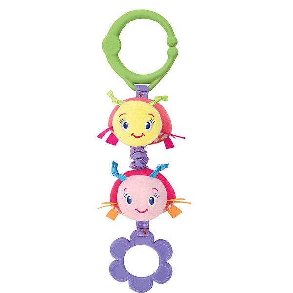 Развивающая игрушка  Божьи коровки, Bright StartsИгрушки для новорожденных<br>Развивающая игрушка Божьи коровки Bright Starts (Брайт Старс) представляет собой ярких и симпатичных божьих коровок, которые легко прикрепляются к автокреслу, коляске или кроватке. У игрушки есть приятная особенность, которая непременно приведет в восторг Вашего малыша: стоит потянуть за игрушку, и она начнет вибрировать. Божьи коровки выполнены в ярких тонах, у них симпатичные мордочки, снизу есть резиновое колечко, которое можно погрызть, сверху - удобное крепление в виде пластикового кольца. Игрушка развивает мелкую моторику и цветовосприятие, поэтому идеальна для новорожденных!<br><br>Дополнительная информация:<br><br>- Идеально подходит для новорожденных;<br>- Удобное универсальное крепление;<br>- Вибрирующий эффект, который так нравится малышам;<br>- Прорезыватель;<br>- Яркие цвета;<br>- Безопасные материалы;<br>- Материал: пластик, текстиль;<br>- Размер игрушки: 8 х 5 х 26 см;<br>- Размер упаковки: 9 х 5 х 30 см;<br>- Вес упаковки: 150 г<br><br>Развивающую игрушку  Божьи коровки, Bright Starts (Брайт Старс)  можно купить в нашем интернет-магазине.<br>Ширина мм: 410; Глубина мм: 190; Высота мм: 250; Вес г: 95; Возраст от месяцев: 0; Возраст до месяцев: 24; Пол: Унисекс; Возраст: Детский; SKU: 3345330;