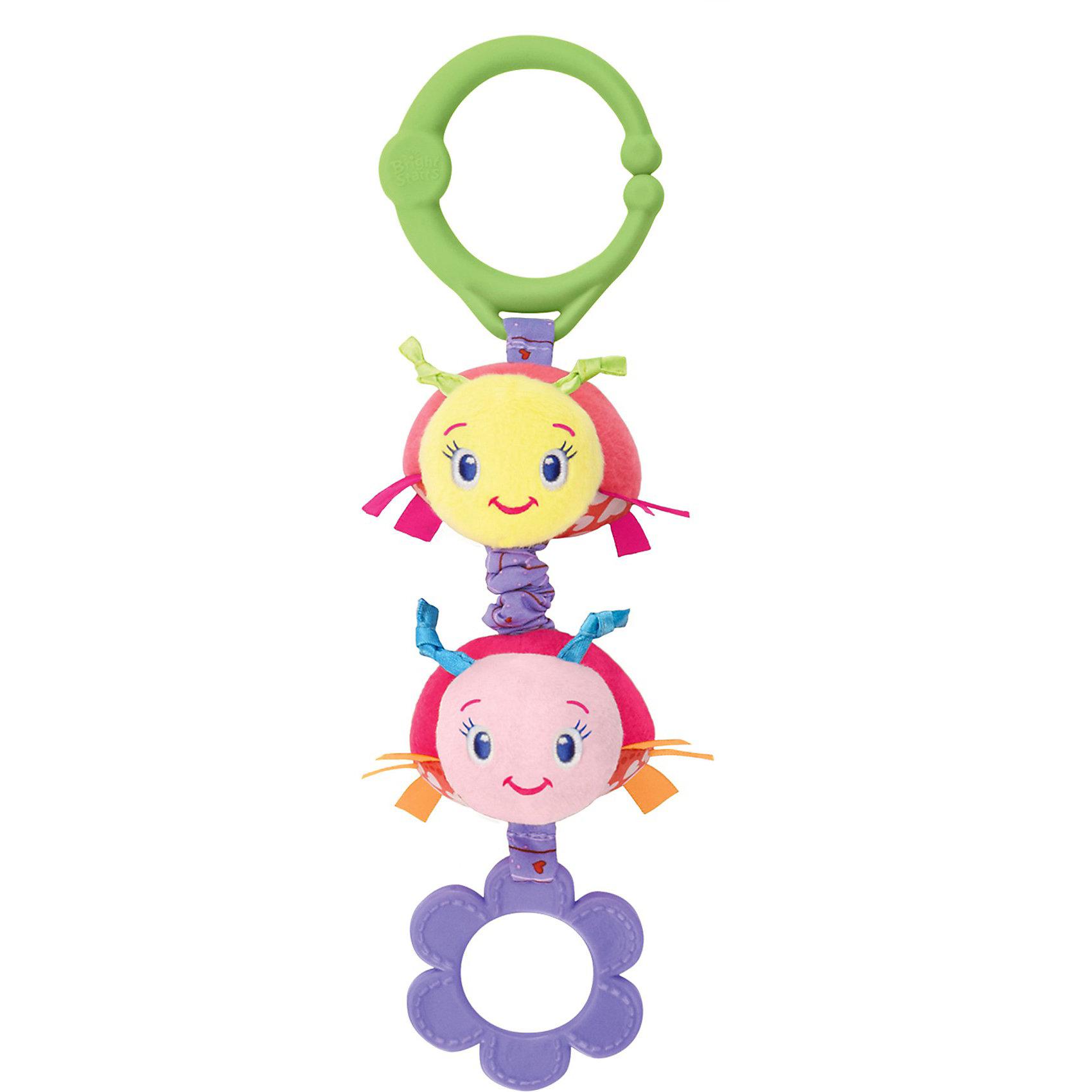Развивающая игрушка  Божьи коровки, Bright StartsРазвивающая игрушка Божьи коровки Bright Starts (Брайт Старс) представляет собой ярких и симпатичных божьих коровок, которые легко прикрепляются к автокреслу, коляске или кроватке. У игрушки есть приятная особенность, которая непременно приведет в восторг Вашего малыша: стоит потянуть за игрушку, и она начнет вибрировать. Божьи коровки выполнены в ярких тонах, у них симпатичные мордочки, снизу есть резиновое колечко, которое можно погрызть, сверху - удобное крепление в виде пластикового кольца. Игрушка развивает мелкую моторику и цветовосприятие, поэтому идеальна для новорожденных!<br><br>Дополнительная информация:<br><br>- Идеально подходит для новорожденных;<br>- Удобное универсальное крепление;<br>- Вибрирующий эффект, который так нравится малышам;<br>- Прорезыватель;<br>- Яркие цвета;<br>- Безопасные материалы;<br>- Материал: пластик, текстиль;<br>- Размер игрушки: 8 х 5 х 26 см;<br>- Размер упаковки: 9 х 5 х 30 см;<br>- Вес упаковки: 150 г<br><br>Развивающую игрушку  Божьи коровки, Bright Starts (Брайт Старс)  можно купить в нашем интернет-магазине.<br><br>Ширина мм: 410<br>Глубина мм: 190<br>Высота мм: 250<br>Вес г: 95<br>Возраст от месяцев: 0<br>Возраст до месяцев: 24<br>Пол: Унисекс<br>Возраст: Детский<br>SKU: 3345330