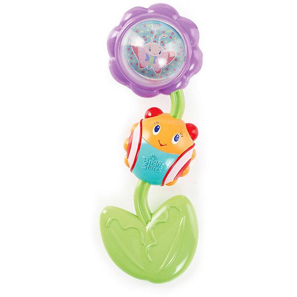 Прорезыватель Божья коровка на цветочке, Bright StartsПустышки<br>Развивающая игрушка-прорезыватель Божья коровка на цветочке предназначена для детей от рождения. Цветочек и листочек вращаются и издают щелкающие звуки.<br>Рельефный мягкий листочек успокоит десны малыша. Покрутите шарик внутри цветочка, чтобы увидеть зеркало и милых персонажей. Легко держать маленькими ручками.<br><br>Дополнительная информация:<br><br> - материал: пластик <br> - размеры игрушки: 11х4 х 17 см.<br> - размеры упаковки: 12х4 х19 см.<br><br>Прорезыватель Божья коровка на цветочке можно купить в нашем интернет магазине.<br>Ширина мм: 120; Глубина мм: 210; Высота мм: 40; Вес г: 137; Возраст от месяцев: 4; Возраст до месяцев: 36; Пол: Унисекс; Возраст: Детский; SKU: 3345335;