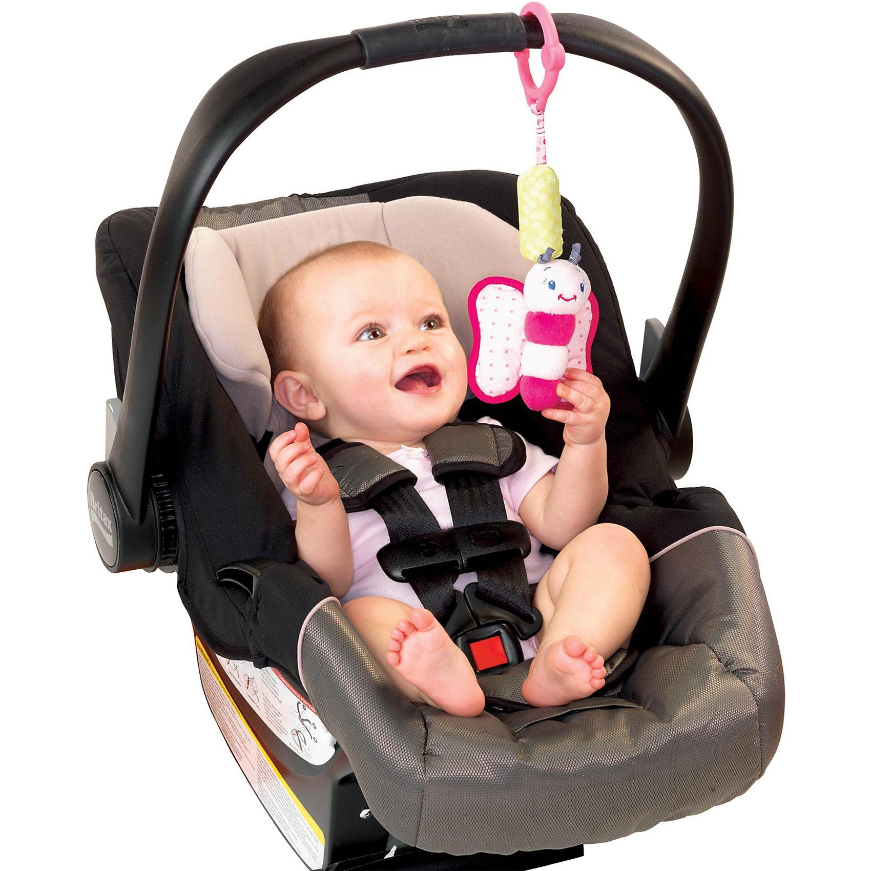 Развивающая игрушка  Бабочка, Bright StartsРазвивающая игрушка «Звонкий дружок» в виде бабочки станет прекрасным развлечением малыша, а также великолепным вкладом в его развитие. Игрушка предназначена для детей возраста от 0 до 1 года.<br>Модель оснащена веселыми, звенящими колокольчиками, которые станут забавными друзьями для Вашего любимого малыша. Яркие герои с разными текстурами поднимут настроение любому ребенку. К тому же их можно очень легко брать, благодаря удобной форме. Развивающая игрушка с легкостью крепится на кроватке, коляске или на ручке автокресла. То есть игрушка всегда будет рядом с ребенком. Благодаря маленьким размерам модель легко помещается даже в самую маленькую ручку.<br><br>Дополнительная информация:<br><br>- материал: пластмасса, текстиль<br>- размеры игрушки: 8х6х28 см.<br>- размеры коробки: 9х6х26 см.<br><br>Развивающую игрушку  Бабочка можно купить в нашем интернет магазине.<br><br>Ширина мм: 150<br>Глубина мм: 260<br>Высота мм: 90<br>Вес г: 65<br>Возраст от месяцев: 0<br>Возраст до месяцев: 24<br>Пол: Унисекс<br>Возраст: Детский<br>SKU: 3345351
