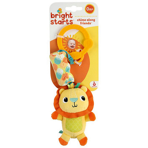 Развивающая игрушка  Львёнок, Bright StartsИгрушки для новорожденных<br>Развивающая игрушка-подвеска Львёнок станет прекрасным развлечением малыша, ведь на подвеске найдутся забавные друзья звенящие колокольчики. Ребёнок полюбит этих мягких друзей и счастливый звон, который они издают! Яркие герои с различными текстурами Легко крепится на коляску, переноску или кроватку.<br><br>Дополнительная информация:<br><br>- размер игрушки: 8 х 5,5 х 13,5 см.<br>- размер упаковки: 11,5 х 7,5 х 19 см.<br>- материал: высококачественная пластмасса, текстиль.<br><br>Развивающую игрушку  Львёнок можно купить в нашем интернет магазине.<br><br>Ширина мм: 90<br>Глубина мм: 288<br>Высота мм: 30<br>Вес г: 76<br>Возраст от месяцев: 3<br>Возраст до месяцев: 24<br>Пол: Унисекс<br>Возраст: Детский<br>SKU: 3345353