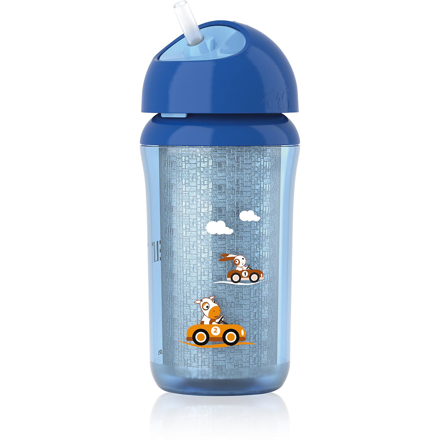 Термокружка-поильник с трубочкой, 260 мл, AVENT, синийПоильники<br>Термочашка-поильник с трубочкой Philips AVENT (Филипс АВЕНТ) SCF766/00 поддерживает нужную температуру напитка для Вашего малыша. Герметичная чашка с завинчивающейся крышкой предназначена для обучения самостоятельному питанию. <br>Дополнительная информация:<br>- Дольше сохраняет свежесть напитка<br>-  Дольше поддерживает оптимальную температуру напитка<br>- Герметична<br>-  Гибкая трубочка со встроенным герметичным клапаном<br>- Удобно пить<br>- Простота в использовании: ребенок может пить, не прикладывая больших усилий<br>- Легко чистится<br>- Небольшое количество деталей упрощает чистку и сборку<br>-Все детали можно мыть в посудомоечной машине<br>Не содержит бисфенол-А<br>В комплект входят:<br>• Силиконовая трубочка: 1 шт.<br>• Завинчивающаяся крышка с трубочкой: 1 шт.<br>• Чашка (260 мл/ 9 унций): 1 шт.<br>Дополнительная информация:<br>- Возраст: 12 мес. +<br>- Размеры:<br>• Глубина: 80 мм<br>• Высота: 260 мм<br>• Длина: 100 мм<br>- Вес: 180 г<br>Термочашку-поильник с трубочкой AVENT, 260 мл в синем цвете можно купить в нашем интернет-магазине.<br>Термочашка-поильник с трубочкой Philips AVENT (Филипс АВЕНТ) SCF766/00 поддерживает нужную температуру напитка для Вашего малыша. Герметичная чашка с завинчивающейся крышкой предназначена для обучения самостоятельному питанию. <br>Дополнительная информация:<br>- Дольше сохраняет свежесть напитка<br>-  Дольше поддерживает оптимальную температуру напитка<br>- Герметична<br>-  Гибкая трубочка со встроенным герметичным клапаном<br>- Удобно пить<br>- Простота в использовании: ребенок может пить, не прикладывая больших усилий<br>- Легко чистится<br>- Небольшое количество деталей упрощает чистку и сборку<br>-Все детали можно мыть в посудомоечной машине<br>Не содержит бисфенол-А<br>В комплект входят:<br>• Силиконовая трубочка: 1 шт.<br>• Завинчивающаяся крышка с трубочкой: 1 шт.<br>• Чашка (260 мл/ 9 унций): 1 шт.<br>Дополнительная информация:<br>- Возраст: 12 м