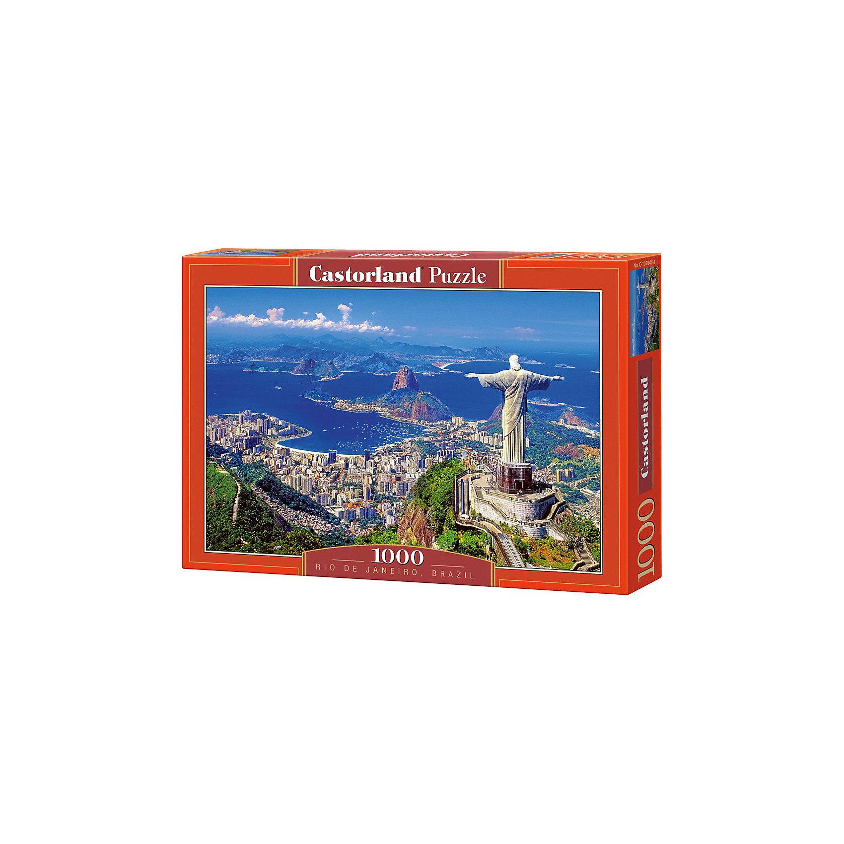 Пазл Рио-де-Жанейро, 1000 деталей, CastorlandКлассические пазлы<br>Рио де Жанейро - удивительный, красивый пазл из 1000 деталей от Castorland (Касторленд)!<br><br>Пазл отличается высочайшим качеством полиграфии, насыщенными цветами, идеальной стыковкой элементов, изготовленных из плотного, нерасслаивающегося картона. Особая техника штамповки компании Castorland гарантирует, что каждая деталь идеально встанет на свое место, картинка будет прочно фиксироваться при сборке и не сломается, если ее случайно задеть.<br><br>Этот красивый пазл можно складывать всей семьей, с друзьями или, напротив, одному, отдыхая от каждодневной суеты и стресса. Такое увлекательное занятие разнообразит Ваш досуг и позволит с пользой проводить свободное время: сбор пазлов развивает воображение, пространственное мышление, фантазию, внимание, память.<br><br>Дополнительная информация:<br><br>- Количество деталей: 1000<br>- Материал: плотный картон<br>- Размер собранного пазла: 680x470 мм <br>- Размер коробки: 350x250x52 мм<br>- Вес: 600 г.<br><br>Пазл Рио-де-Жанейро, 1000 деталей, Castorland (Касторленд) можно купить в нашем интернет-магазине.<br><br>Ширина мм: 350<br>Глубина мм: 250<br>Высота мм: 50<br>Вес г: 500<br>Возраст от месяцев: 168<br>Возраст до месяцев: 1188<br>Пол: Унисекс<br>Возраст: Детский<br>Количество деталей: 1000<br>SKU: 3350512