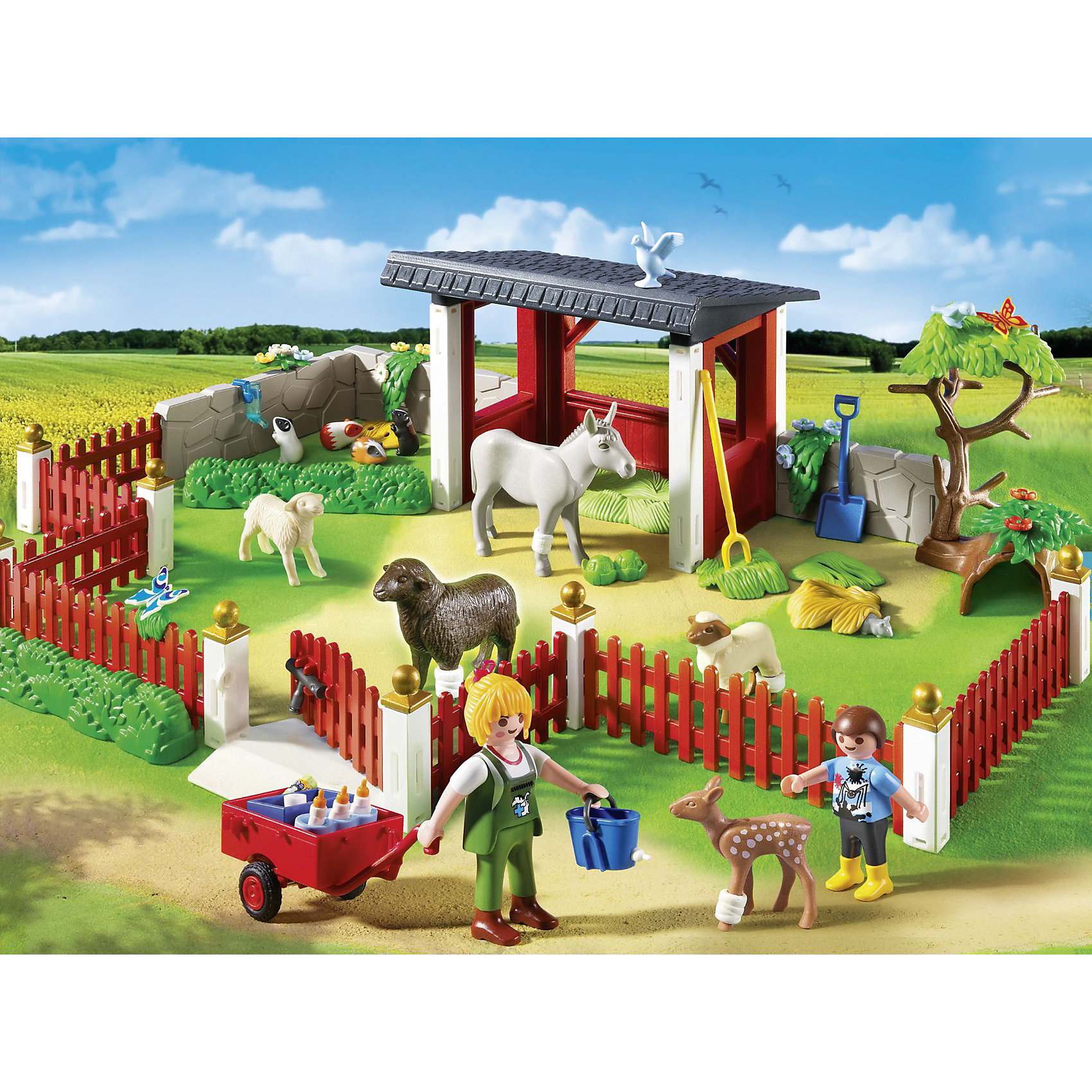 PLAYMOBIL® PLAYMOBIL 5531 Ветеринарная клиника: Уход за животными playmobil® playmobil 5110 конный клуб трекерная лошадь со стойлом