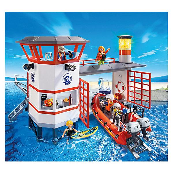 PLAYMOBIL 5539 Береговая охрана: Береговая станция с маякомИдеи подарков<br>Конструктор PLAYMOBIL (Плеймобил) 5539 Береговая охрана: Береговая станция с маяком - находка для заботливых родителей! Конструктор Вашего ребенка должен быть именно таким: красочным, безопасным и очень интересным. Серия Береговая охрана посвящена важной работе команды, которая следит за безопасностью судов и пассажиров во вверенной ей акватории. У службы много техники и оборудования с помощью которого они с успехом проводят сложные спасательные операции на воде. Береговая станция с маяком оснащена всем необходимым для помощи пострадавшим на воде. Пять спасателей дежурят на станции день и ночь. Маяк оснащен четырьмя лампочками, которые имитируют луч поворачивающегося прожектора. Благодаря его свету моряки всегда знают, где найти помощь. У спасателей есть скоростная лодка и снаряжение для подводных операций. На верхнем этаже расположена смотровая вышка, оснащенная суперсовременным компьютером. Если диспетчер по рации сообщает об опасности, спасатели немедленно спускают лодку на воду и отправляются на помощь. Создай увлекательные сюжеты с набором Береговая станция с маяком или объедини его с другими наборами серии и игра станет еще интереснее. Придумывая замечательные сюжеты с деталями конструктора, Ваш ребенок развивает фантазию, учится заботе и просто прекрасно проводит время!<br><br>Дополнительная информация:<br><br>- Конструкторы PLAYMOBIL (Плеймобил) отлично развивают мелкую моторику, фантазию и воображение;<br>- В наборе: 5 минифигурок спасателей, детали для строительства береговой станции, 2 спасательных круга, лодка, ласты, маска, доска, аптечка, ящик с инструментами, аксессуары;<br>- Количество деталей: 132 шт;<br>- Для работы необходимы 2 батарейки 1,5V;<br>- Материал: безопасный пластик;<br>- Размер минифигурок: 7,5 см;<br>- Размер упаковки: 51 х 26 х 41 см<br><br>Конструктор PLAYMOBIL (Плеймобил) 5539 Береговая охрана: Береговая станция с маяком можно купить в нашем интернет-магази