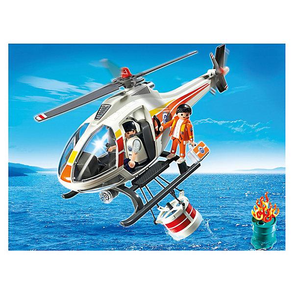 PLAYMOBIL 5542 Береговая охрана: Пожарный вертолетПластмассовые конструкторы<br>Конструктор PLAYMOBIL (Плеймобил) 5542 Береговая охрана: Пожарный вертолет - находка для заботливых родителей! Конструктор Вашего ребенка должен быть именно таким: красочным, безопасным и очень интересным. Серия Береговая охрана посвящена важной работе команды, которая следит за безопасностью судов и пассажиров во вверенной ей акватории. У службы много техники и оборудования с помощью которого они с успехом проводят сложные спасательные операции на воде. Если на судне случился пожар и требуется срочная эвакуация пассажиров, не обойтись без современного пожарного вертолета. Он оснащен водяным баком с открывающимся дном. Потушив пожар, двое спасателей приступают к эвакуации людей, с помощью крюка они могут помочь спасательным судам добраться до берега. На борту вертолета всегда находится врач с набором средств для оказания помощи раненым. С помощью этого замечательного набора Вы сможете с легкостью показать ребенку правила оказания первой помощи. Создай увлекательные сюжеты с набором Пожарный вертолет или объедини его с другими наборами серии и игра станет еще интереснее. Придумывая замечательные сюжеты с деталями конструктора, Ваш ребенок развивает фантазию, учится заботе и просто прекрасно проводит время!<br><br>Дополнительная информация:<br><br>- Конструкторы PLAYMOBIL (Плеймобил) отлично развивают мелкую моторику, фантазию и воображение;<br>- В наборе: минифигурка спасателя, языки пламени, водяной бак, трос с крюками, аптечка, бак с горючим, аксессуары;<br>- Количество деталей: 35 шт;<br>- Материал: безопасный пластик;<br>- Размер минифигурок: 7,5 см;<br>- Размер упаковки: 32 х 26 х 36 см<br><br>Конструктор PLAYMOBIL (Плеймобил) 5542 Береговая охрана: Пожарный вертолет можно купить в нашем интернет-магазине.<br>Ширина мм: 353; Глубина мм: 250; Высота мм: 105; Вес г: 461; Возраст от месяцев: 48; Возраст до месяцев: 120; Пол: Мужской; Возраст: Детский; SKU: 3350646;