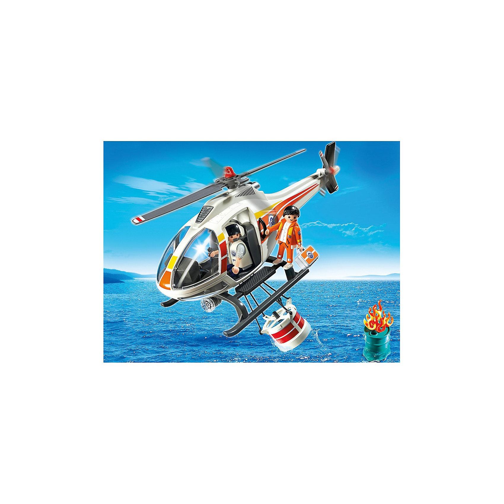 PLAYMOBIL 5542 Береговая охрана: Пожарный вертолетКонструктор PLAYMOBIL (Плеймобил) 5542 Береговая охрана: Пожарный вертолет - находка для заботливых родителей! Конструктор Вашего ребенка должен быть именно таким: красочным, безопасным и очень интересным. Серия Береговая охрана посвящена важной работе команды, которая следит за безопасностью судов и пассажиров во вверенной ей акватории. У службы много техники и оборудования с помощью которого они с успехом проводят сложные спасательные операции на воде. Если на судне случился пожар и требуется срочная эвакуация пассажиров, не обойтись без современного пожарного вертолета. Он оснащен водяным баком с открывающимся дном. Потушив пожар, двое спасателей приступают к эвакуации людей, с помощью крюка они могут помочь спасательным судам добраться до берега. На борту вертолета всегда находится врач с набором средств для оказания помощи раненым. С помощью этого замечательного набора Вы сможете с легкостью показать ребенку правила оказания первой помощи. Создай увлекательные сюжеты с набором Пожарный вертолет или объедини его с другими наборами серии и игра станет еще интереснее. Придумывая замечательные сюжеты с деталями конструктора, Ваш ребенок развивает фантазию, учится заботе и просто прекрасно проводит время!<br><br>Дополнительная информация:<br><br>- Конструкторы PLAYMOBIL (Плеймобил) отлично развивают мелкую моторику, фантазию и воображение;<br>- В наборе: минифигурка спасателя, языки пламени, водяной бак, трос с крюками, аптечка, бак с горючим, аксессуары;<br>- Количество деталей: 35 шт;<br>- Материал: безопасный пластик;<br>- Размер минифигурок: 7,5 см;<br>- Размер упаковки: 32 х 26 х 36 см<br><br>Конструктор PLAYMOBIL (Плеймобил) 5542 Береговая охрана: Пожарный вертолет можно купить в нашем интернет-магазине.<br><br>Ширина мм: 353<br>Глубина мм: 250<br>Высота мм: 105<br>Вес г: 461<br>Возраст от месяцев: 48<br>Возраст до месяцев: 120<br>Пол: Мужской<br>Возраст: Детский<br>SKU: 3350646