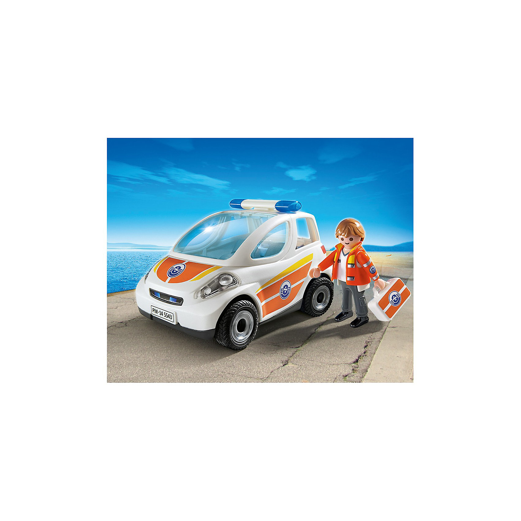 PLAYMOBIL® PLAYMOBIL 5543 Береговая охрана: Машина первой помощи playmobil спасатели с носилками