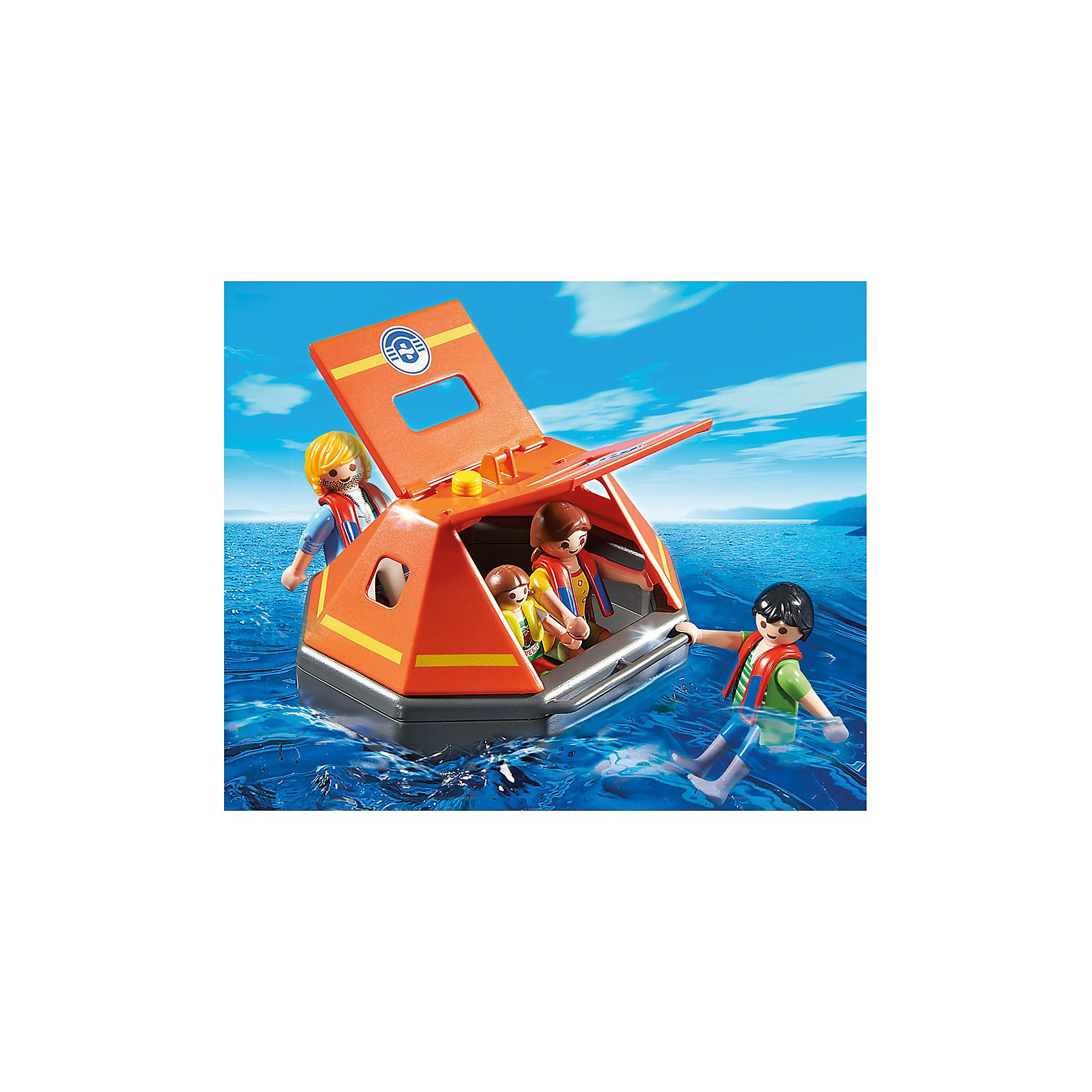 PLAYMOBIL 5545 Береговая охрана: Спасательный плотКонструктор PLAYMOBIL (Плеймобил) 5545 Береговая охрана: Спасательный плот - находка для заботливых родителей! Конструктор Вашего ребенка должен быть именно таким: красочным, безопасным и очень интересным. Серия Береговая охрана посвящена важной работе команды, которая следит за безопасностью судов и пассажиров во вверенной ей акватории. У службы много техники и оборудования с помощью которого они с успехом проводят сложные спасательные операции на воде. Четверо пассажиров спасаются после кораблекрушения на спасательном плоту. Они надели спасательные жилеты и двигаются к берегу. Плот отлично держится на воде и специально оборудован, чтобы защитить людей от дождя и ветра. Если выглянуло яркое солнце, боковины плота можно открыть. С помощью этого замечательного набора Вы сможете с легкостью показать ребенку правила поведения на воде. Создай увлекательные сюжеты с набором Спасательный плот или объедини его с другими наборами серии и игра станет еще интереснее. Придумывая замечательные сюжеты с деталями конструктора, Ваш ребенок развивает фантазию, учится заботе и просто прекрасно проводит время!<br><br>Дополнительная информация:<br><br>- Конструкторы PLAYMOBIL (Плеймобил) отлично развивают мелкую моторику, фантазию и воображение;<br>- В наборе: 4 минифигурки в спасательных жилетах, детали для постройки плота;<br>- Количество деталей: 13 шт;<br>- Материал: безопасный пластик;<br>- Размер минифигурок взрослых: 7,5 см;<br>- Размер минифигурки ребенка: 5,2 см;<br>- Размер упаковки: 20 х 10 х 25 см<br><br>Конструктор PLAYMOBIL (Плеймобил) 5545 Береговая охрана: Спасательный плот можно купить в нашем интернет-магазине.<br><br>Ширина мм: 255<br>Глубина мм: 205<br>Высота мм: 104<br>Вес г: 257<br>Возраст от месяцев: 48<br>Возраст до месяцев: 120<br>Пол: Мужской<br>Возраст: Детский<br>SKU: 3350649