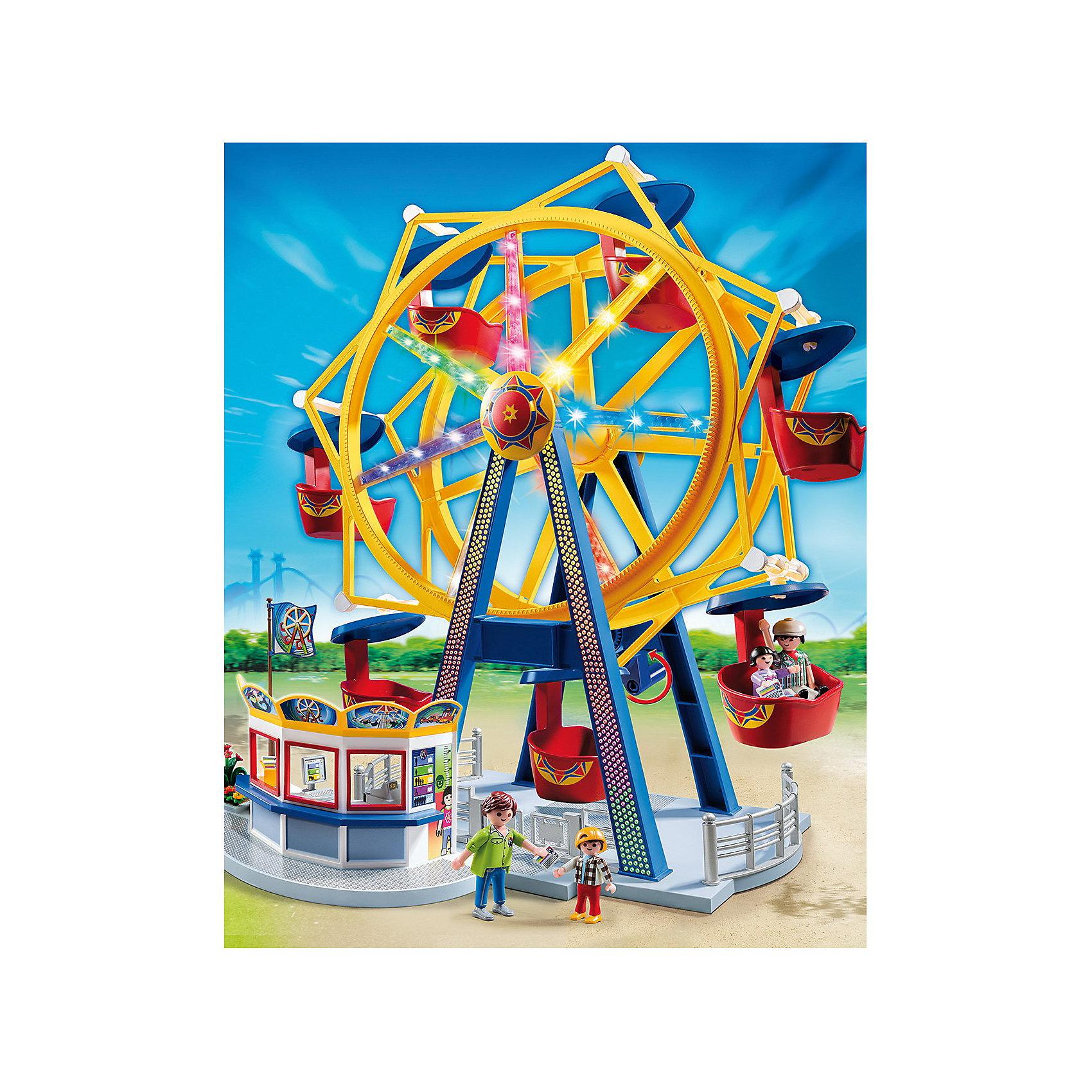 PLAYMOBIL® PLAYMOBIL 5552 Парк Развлечений: Колесо обозрения с огнями конструкторы playmobil паркрразвлечений аттракцион лодка