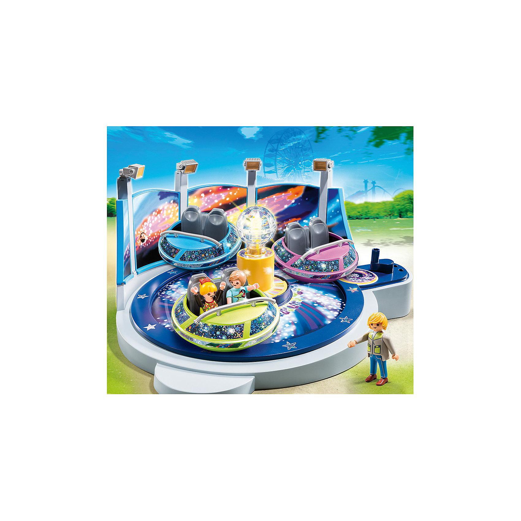 PLAYMOBIL® PLAYMOBIL 5554 Парк Развлечений: Аттракцион Звездолет с огнями playmobil® playmobil 5546 парк развлечений продавец шаров smileyworld