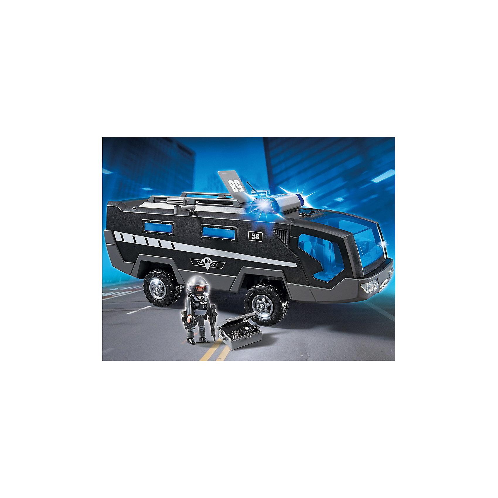 PLAYMOBIL® PLAYMOBIL 5564 Полиция: Машина специального назначения со светом и звуком playmobil® playmobil 5110 конный клуб трекерная лошадь со стойлом