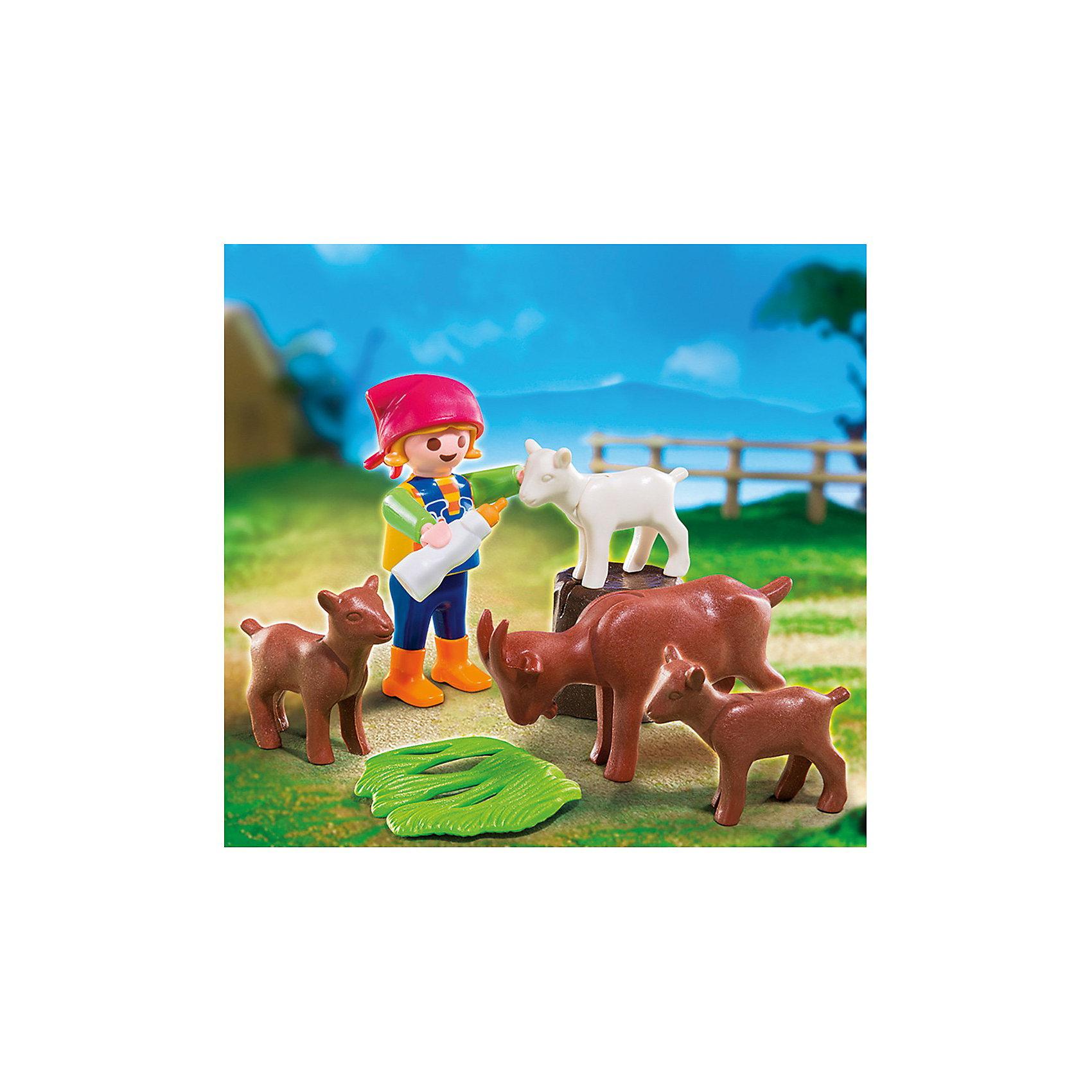PLAYMOBIL® PLAYMOBIL 4785 Дополнение: Девочка с козлятами playmobil ферма золотые ретриверы с щенками