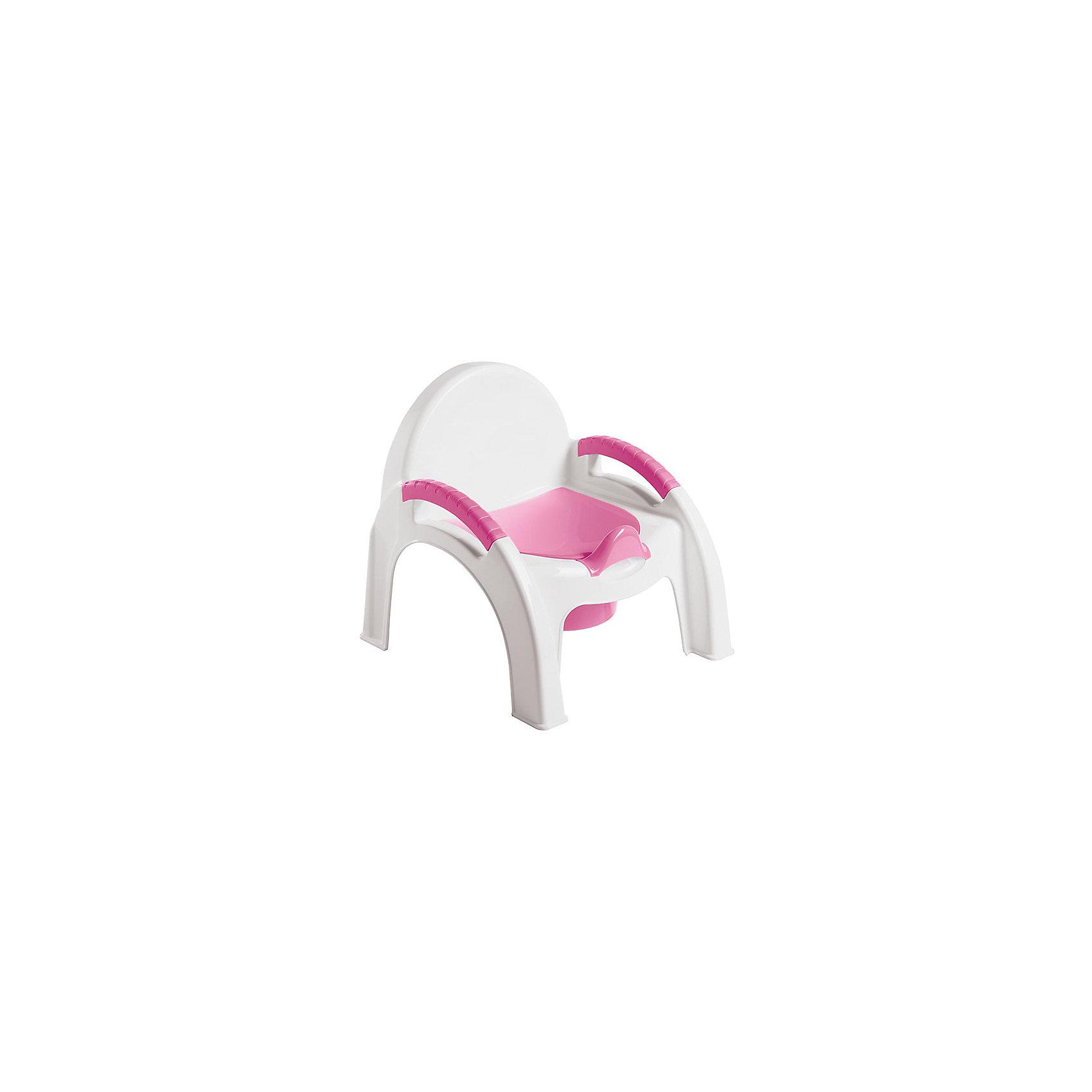 Горшок-стульчик Пластишка, розовый