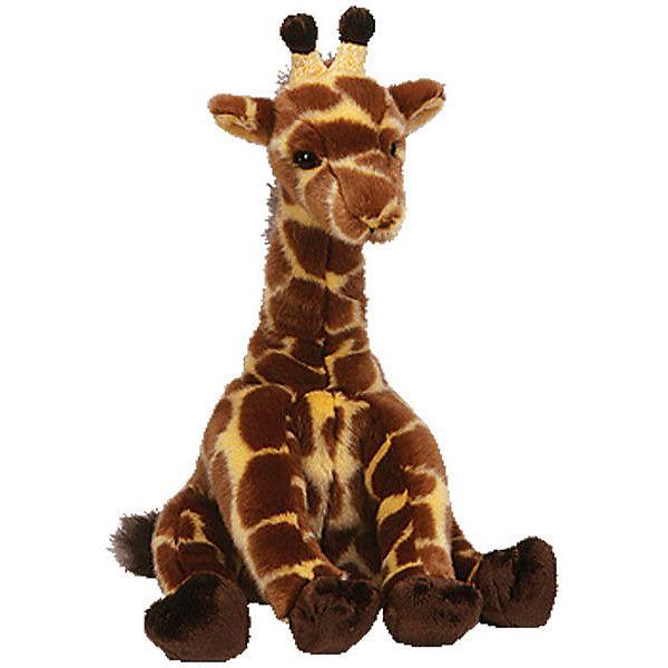 Жираф Hightops, 25см, TyМягкие игрушки животные<br>Мягкая игрушка Жираф Hightops  - это отличный подарок для ребенка, который любит животных. Ведь он как настоящий! Серия Classic представляет уменьшенные копии настоящих животных со всего мира! Жираф Hightops присел отдохнуть и ждет когда ее погладят! Ваш малыш будет просто счастлив получить эту милую, красивую, приятную на ощупь игрушку. Будьте уверены, теперь ребенок никогда не расстанется с этим созданием, вызывающим улыбку умиления. Ведь от игрушки невозможно оторвать глаз, с ней хочется играть и играть. Пусть Ваш ребенок станет радостным обладателем этого симпатичного жирафика!<br><br>Дополнительная информация:<br><br>- Игрушка развивает: тактильные навыки, зрительную координацию, мелкую моторику рук;<br>- Материалы не вызовут аллергии у Вашего малыша;<br>- Яркие и стойкие цвета приятны для глаз;<br>- Материал: плюш, пластик;<br>- Цвет: коричневый;<br>- Размер игрушки: 25 см<br><br>Жирафа Hightops, 25 см, Ty, можно купить в нашем интернет-магазине.<br><br>Ширина мм: 239<br>Глубина мм: 225<br>Высота мм: 83<br>Вес г: 323<br>Возраст от месяцев: 12<br>Возраст до месяцев: 60<br>Пол: Унисекс<br>Возраст: Детский<br>SKU: 3356823