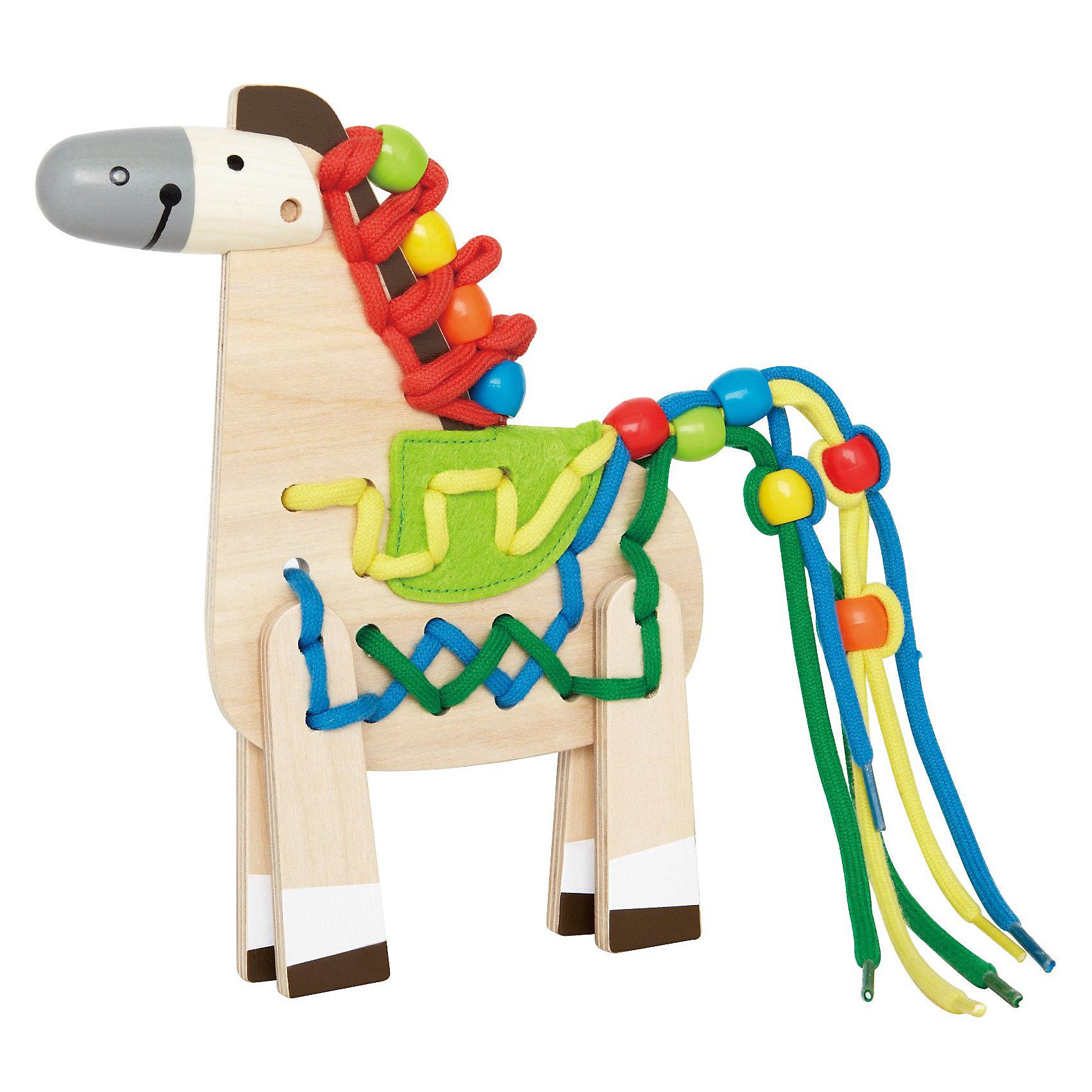 Hape Игрушка деревянная Лошадка, Hape каталки hape игрушка деревянная бабочка