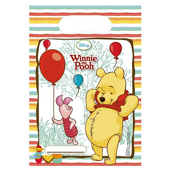Подарочные пакетики Винни и Хрюня, 6 шт.Disney Винни Пух<br>Подарочные пакетики Винни и Хрюня, 6 шт.<br>Подарочные пакетики Винни Пух и Пятачок – это отличное дополнение к празднику. В них можно спрятать сюрпризы для именинника или разложить призы для гостей, которые будут участвовать в конкурсах. Пакетик с любимыми героями будет служить напоминанием о празднике, когда он закончится.  <br>Очаровательные Винни-Пух и Пятачок из популярного диснеевского мультика выполнены в нежных пастельных тонах. Такая расцветка подойдет к любому оформлению праздника.  <br>В упаковке вы найдете 6 пакетиков.<br><br><br>Дополнительная информация:<br>Материал: ПВХ,<br>Размер: 5х170х290 мм.<br><br>Поднимет настроение всей компании Вашего малыша!<br>Легко приобрести в нашем интернет-магазине!<br>Ширина мм: 5; Глубина мм: 170; Высота мм: 290; Вес г: 24; Возраст от месяцев: 36; Возраст до месяцев: 84; Пол: Унисекс; Возраст: Детский; SKU: 3360063;