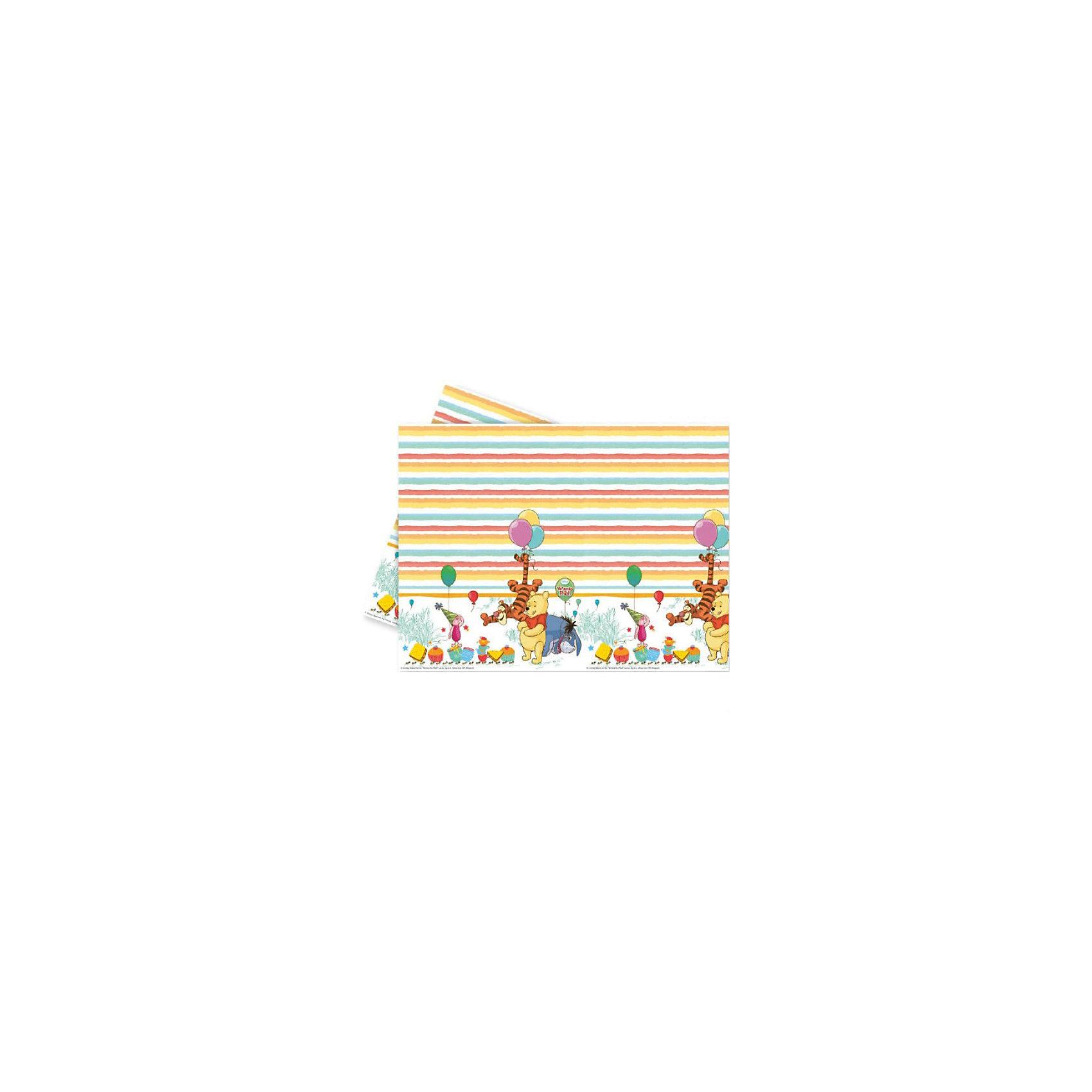 Скатерть  Винни и Хрюня, 120x180 смDisney Винни Пух<br>Скатерть  Винни и Хрюня 120x180 см.<br>Одноразовая скатерть незаменима, если вы собираетесь отмечать детский день рождения. Маленькие гости часто бывают неосторожны, и чтобы не переживать за фамильную белоснежную скатерть, на которой обязательно останутся пятна после торжества, воспользуйтесь одноразовой. Тем более что на скатерти Винни-Пух и Пятачок изображены чудесные герои доброго мультсериала, любимого и детьми, и взрослыми. Медвежонок и поросенок понравятся вашим гостям и помогут создать уютную и веселую атмосферу во время праздника.  <br>Скатерть изготовлена греческим брендом Procos, хорошо зарекомендовавшим себя на протяжение многих лет на рынке товаров для детского праздника. Размер товара: 120х180 см.<br><br><br>Дополнительная информация:<br><br>10х200х360 мм<br><br>Поднимет настроение всей компании Вашего малыша!<br>Легко приобрести в нашем интернет-магазине!<br><br>Ширина мм: 10<br>Глубина мм: 200<br>Высота мм: 360<br>Вес г: 112<br>Возраст от месяцев: 36<br>Возраст до месяцев: 84<br>Пол: Унисекс<br>Возраст: Детский<br>SKU: 3360086